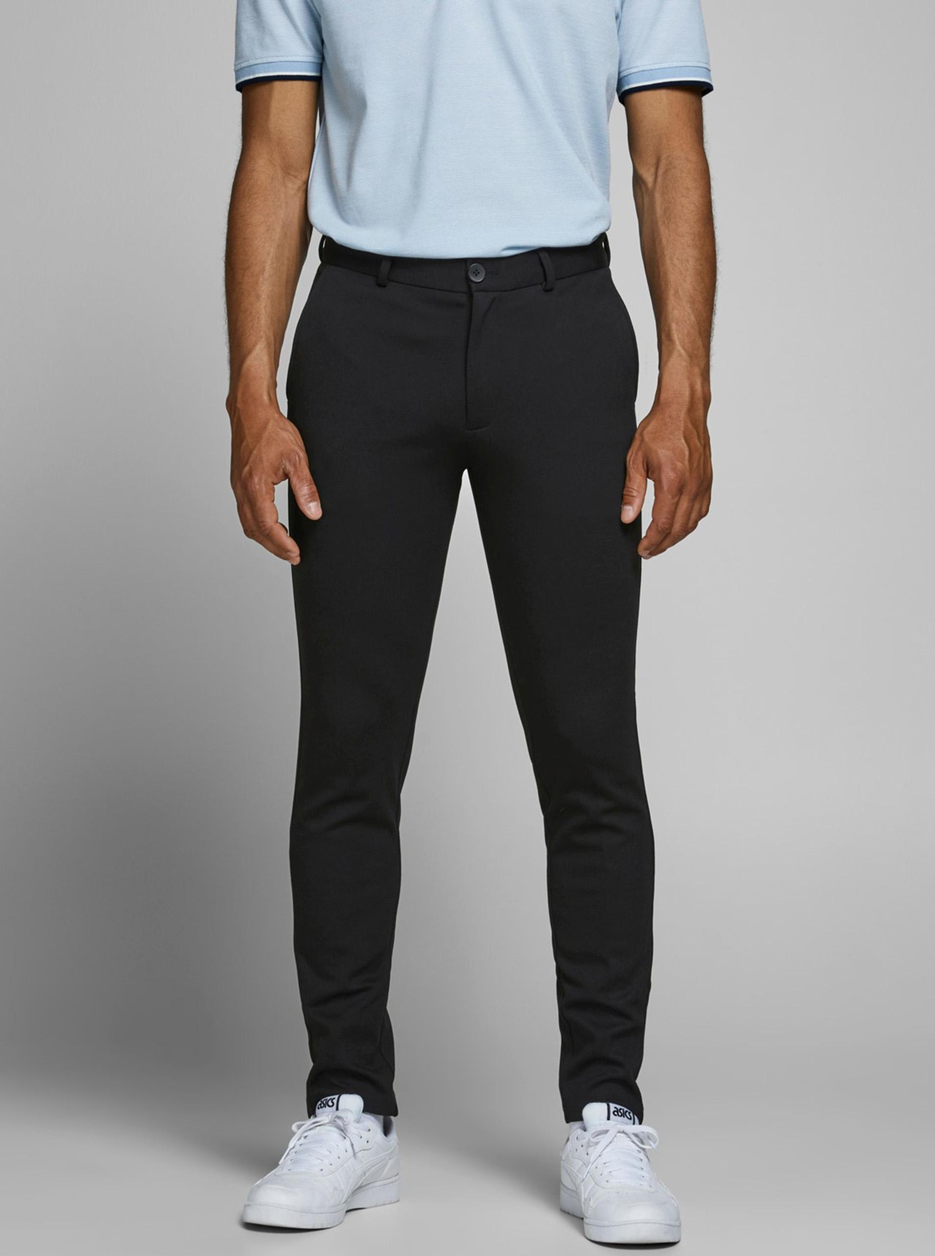 Jack & Jones čierne nohavice Marco - XL