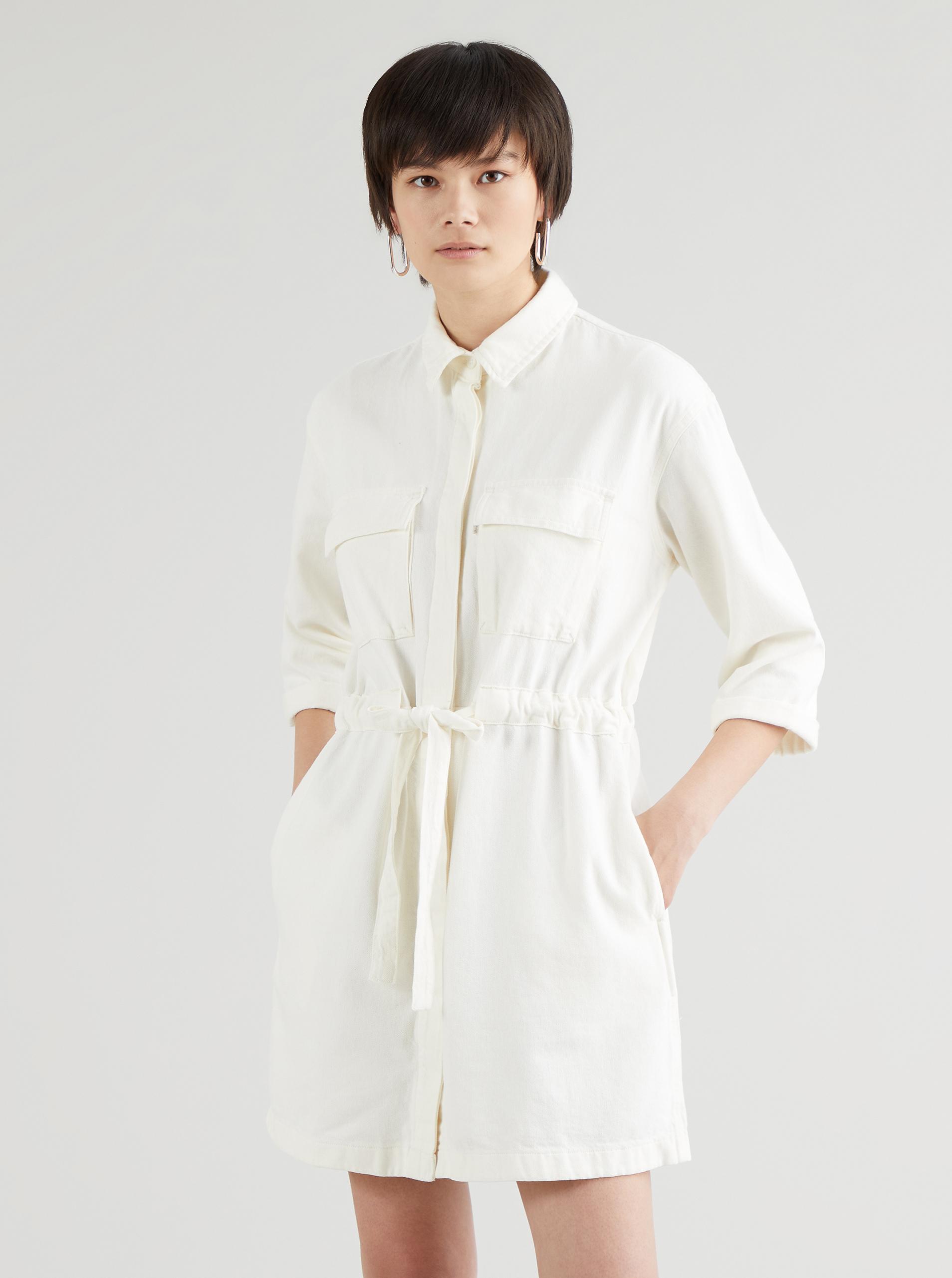 Levi's smotanové/krémové džínsové šaty - S