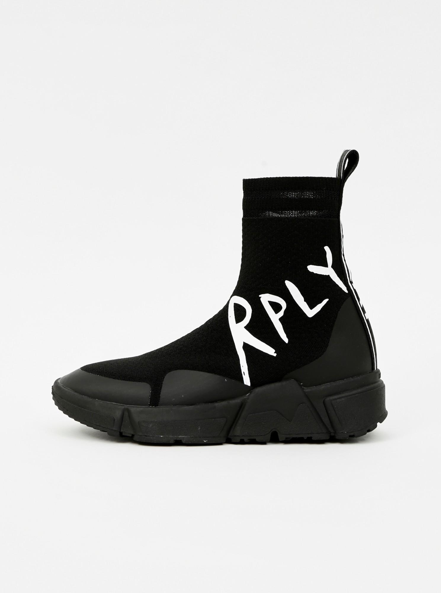 Replay čierne členkové ponožkové tenisky - 37