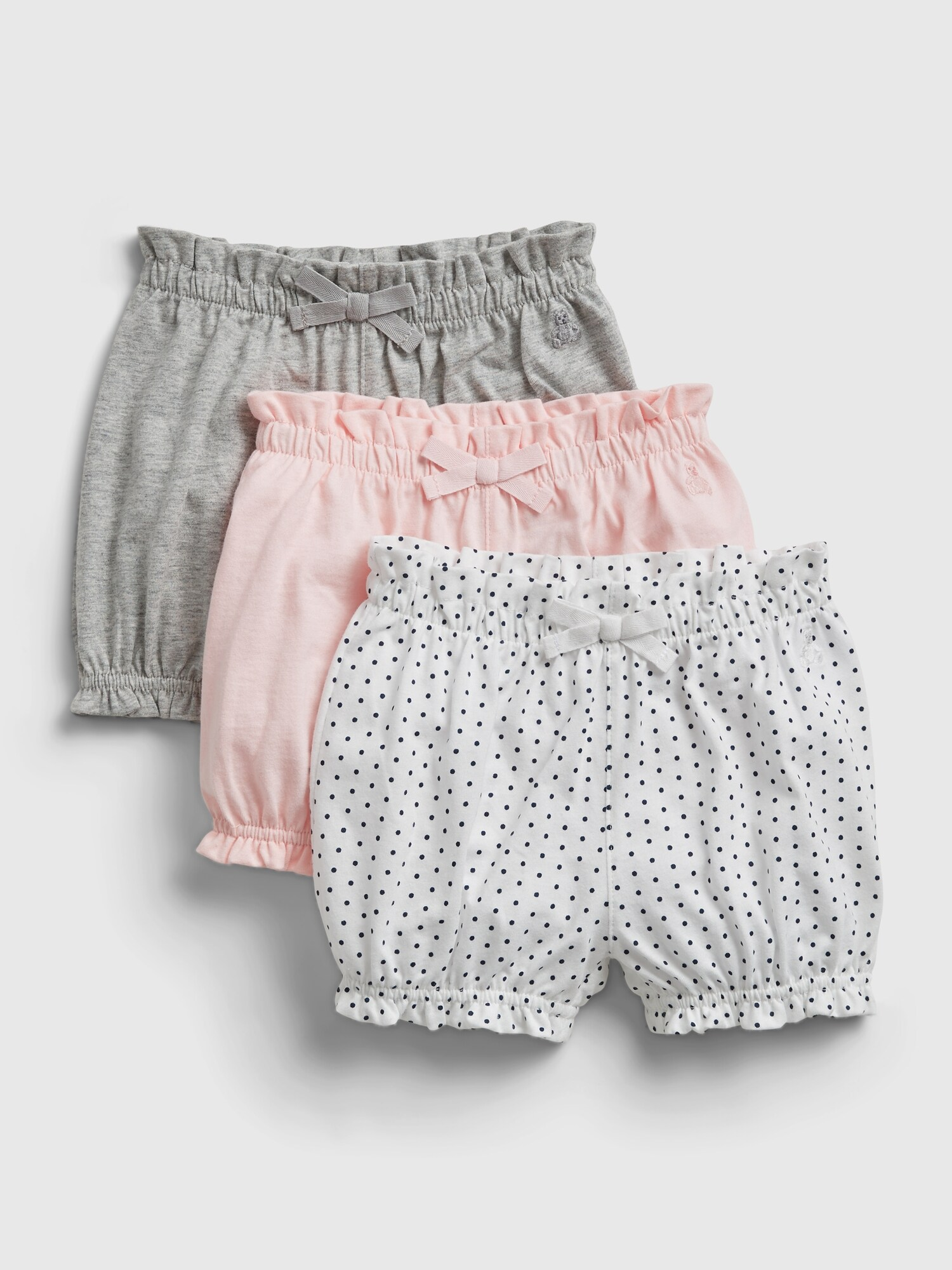 Baby kraťasy organic mix and match pull-on shorts, 3ks Farebná - 50-62