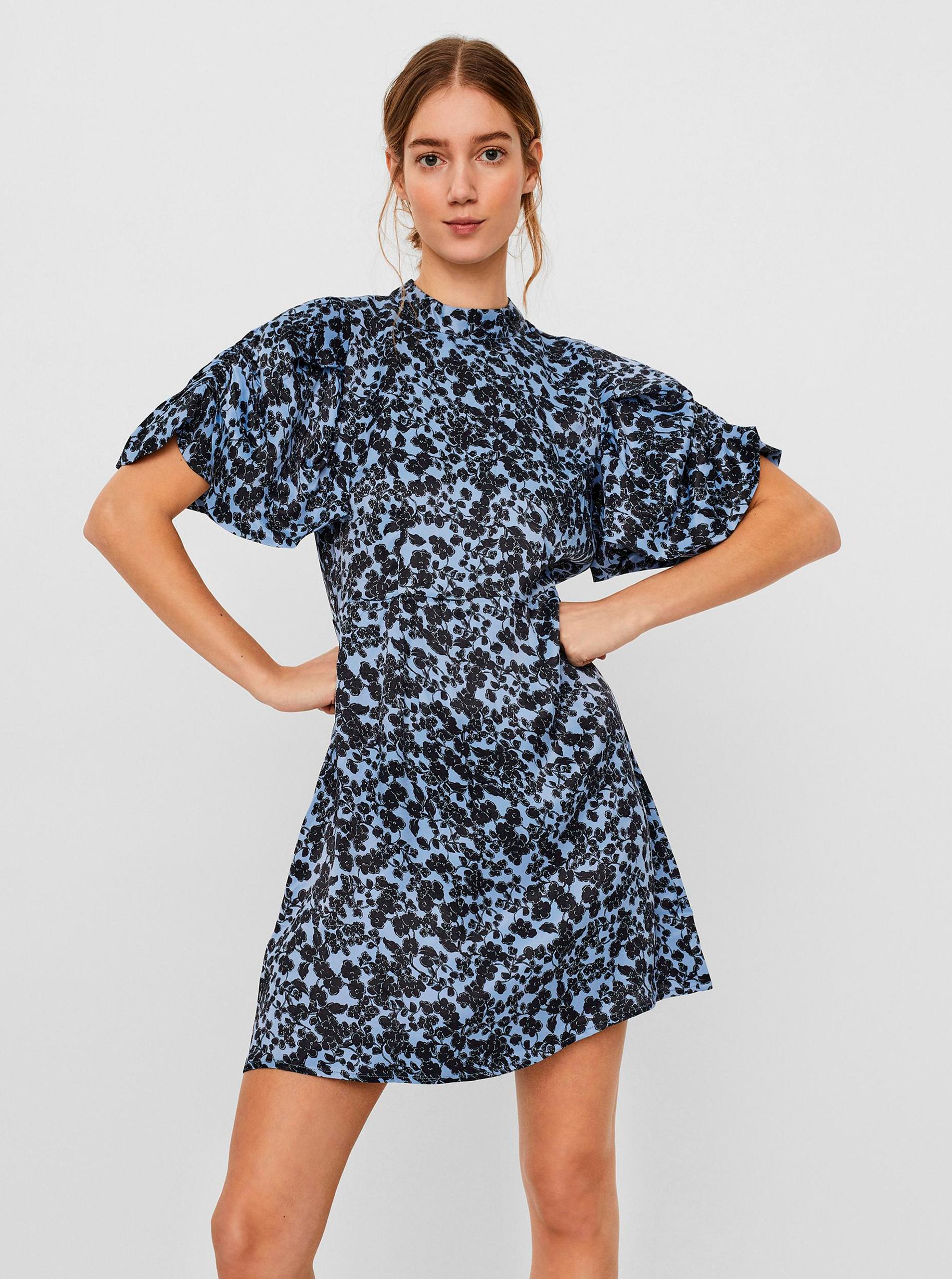 Vero Moda modré kvetované šaty Lydia - M