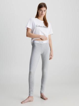 1129bfbdf30f Calvin Klein sivé nohavice Legging Pant s bielou širokou gumou
