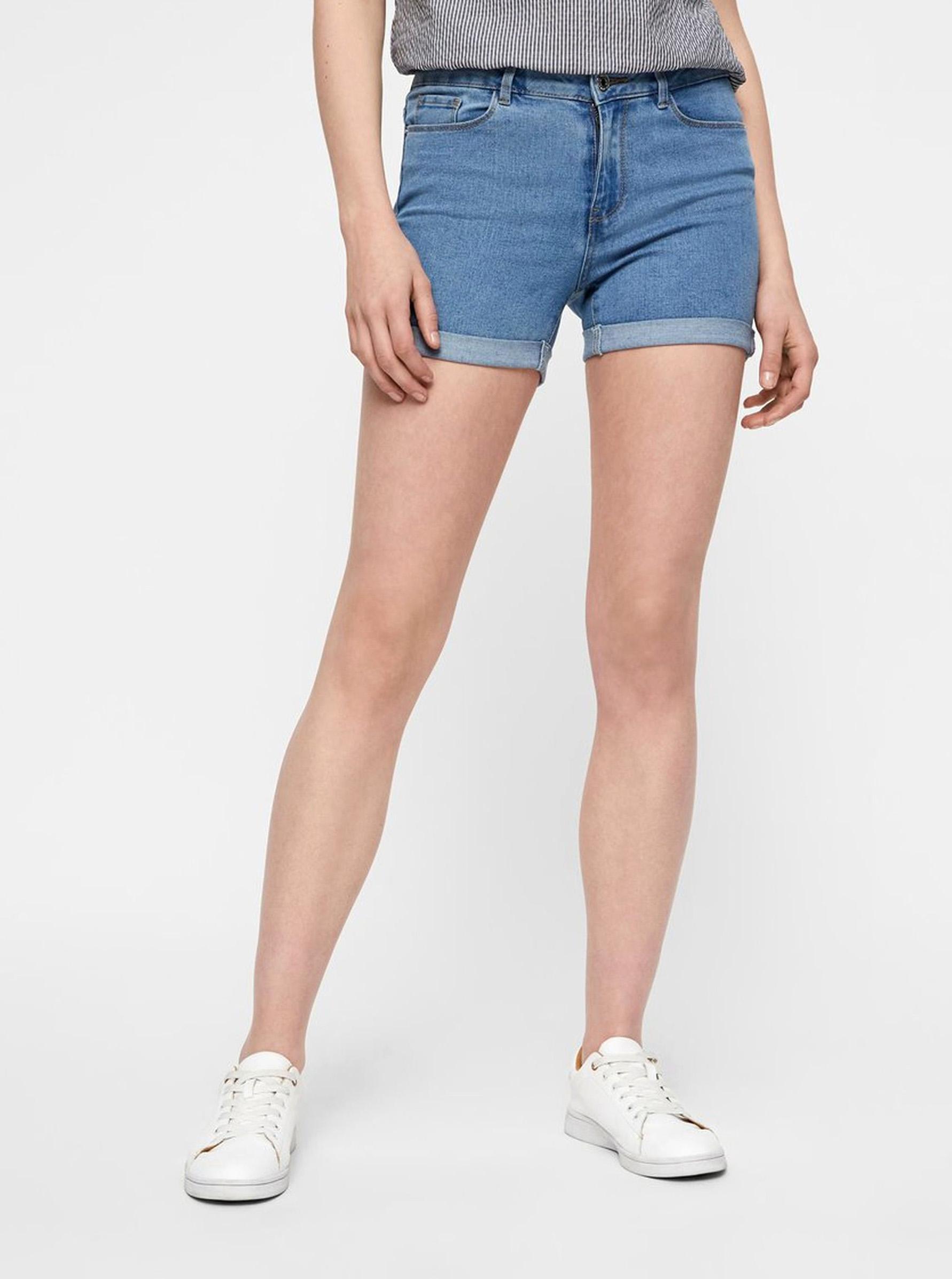 Vero Moda modré džínsové kraťasy Hot Seven - XS