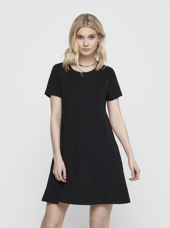 Only čierne šaty May s vreckami - S