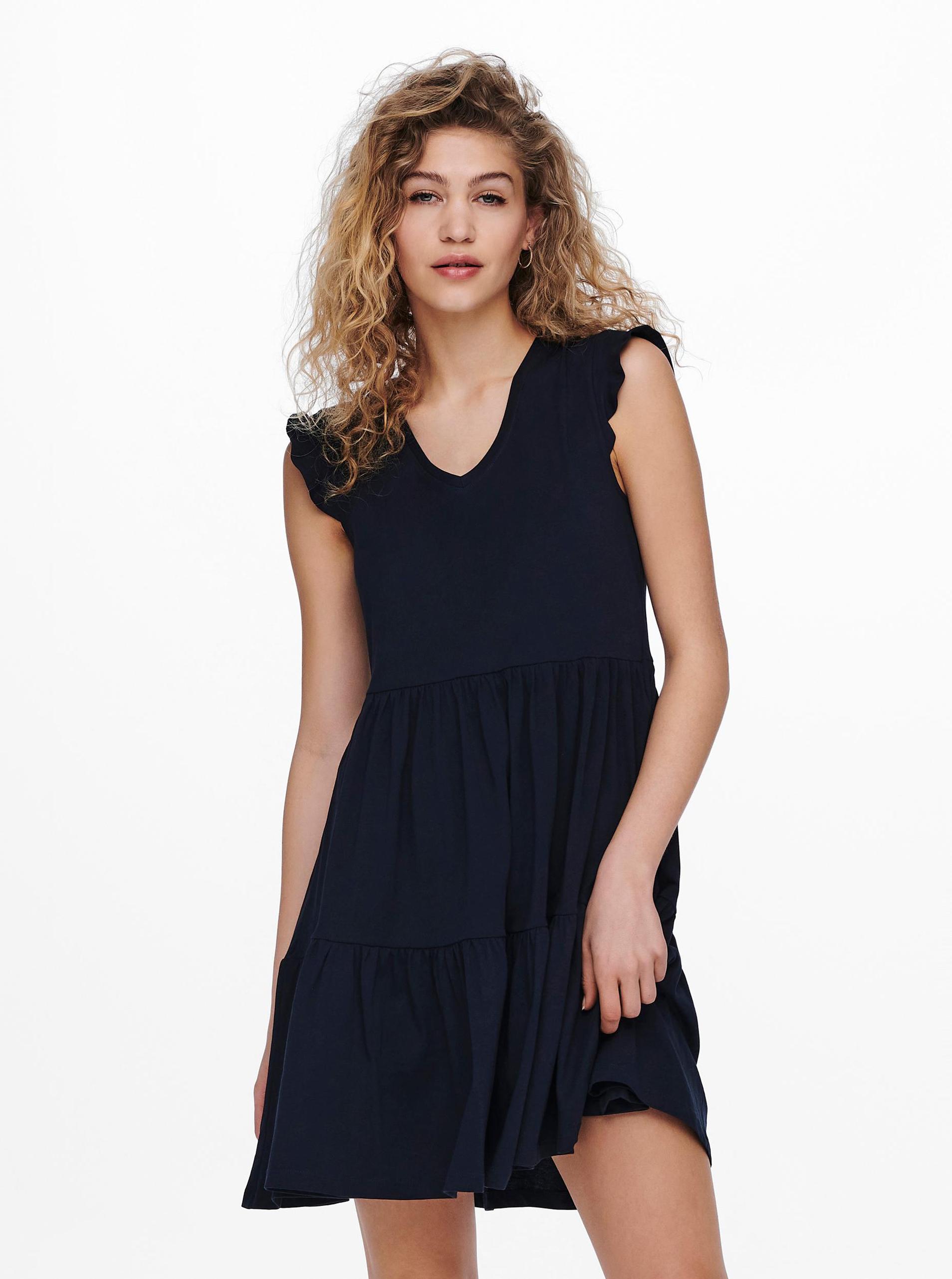 Only modré šaty - S