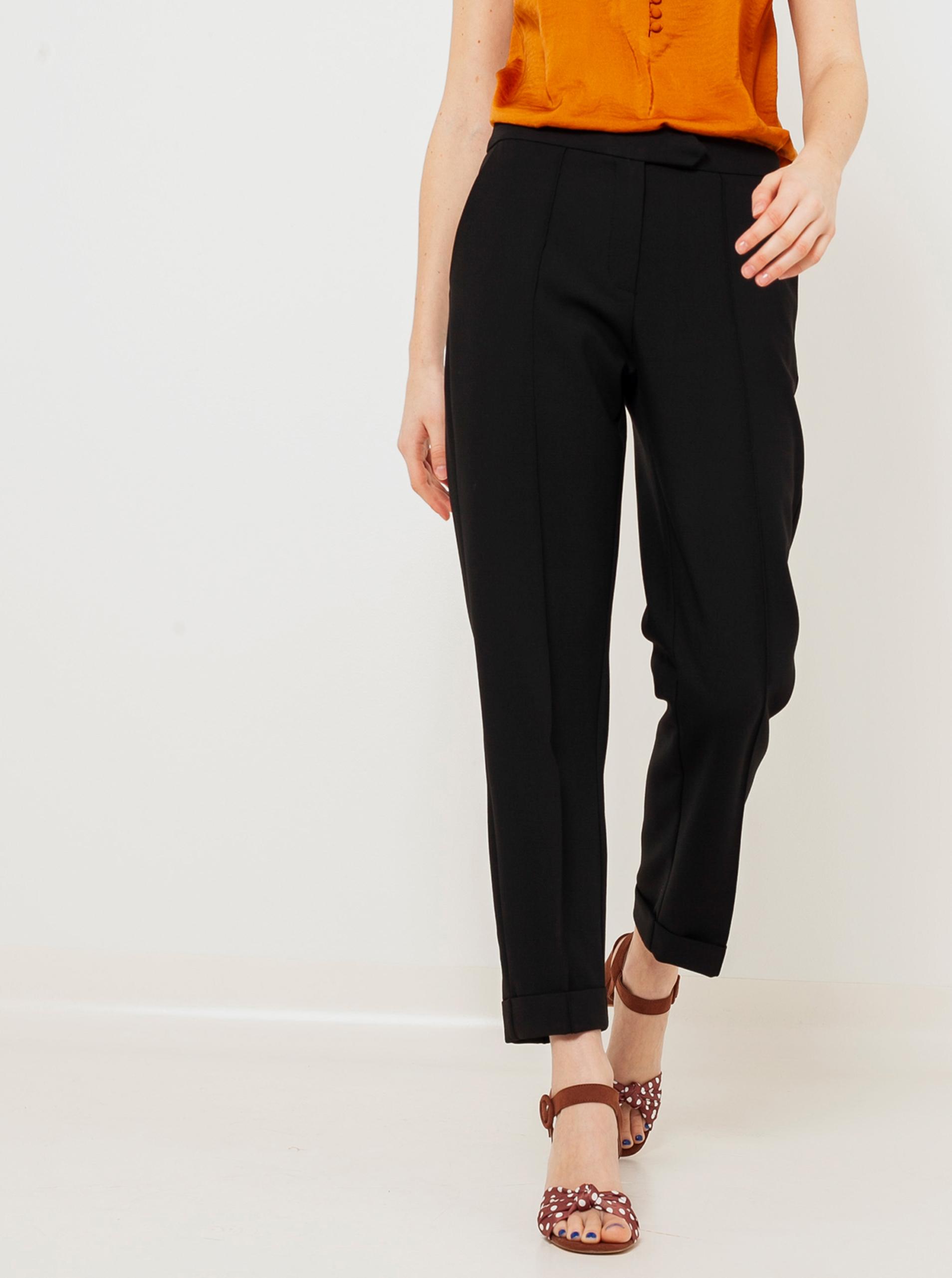 CAMAIEU čierne skrátené nohavice - XL