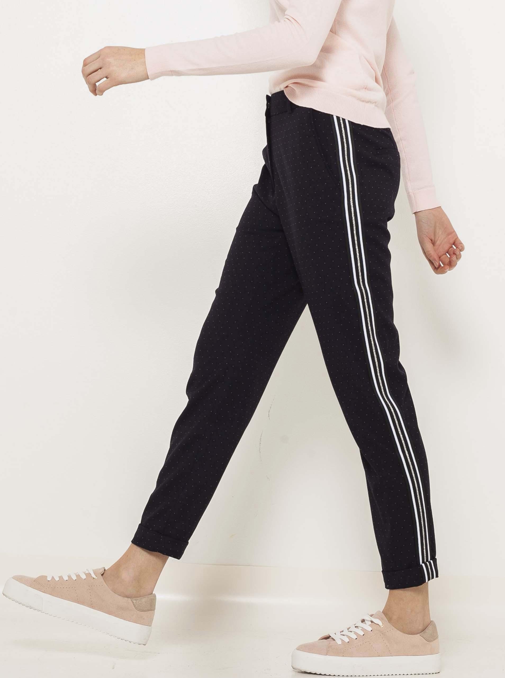 CAMAIEU čierne straight fit nohavice - XL