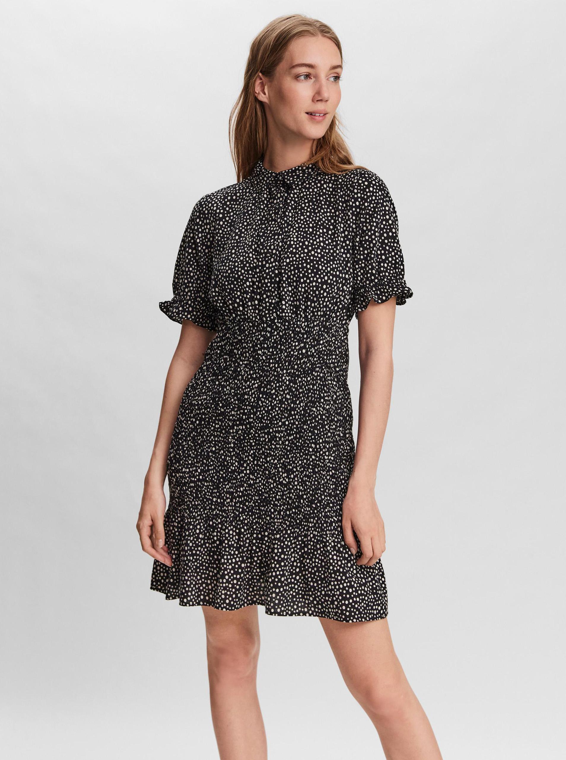 Vero Moda čierne košeľové šaty Ditche - M