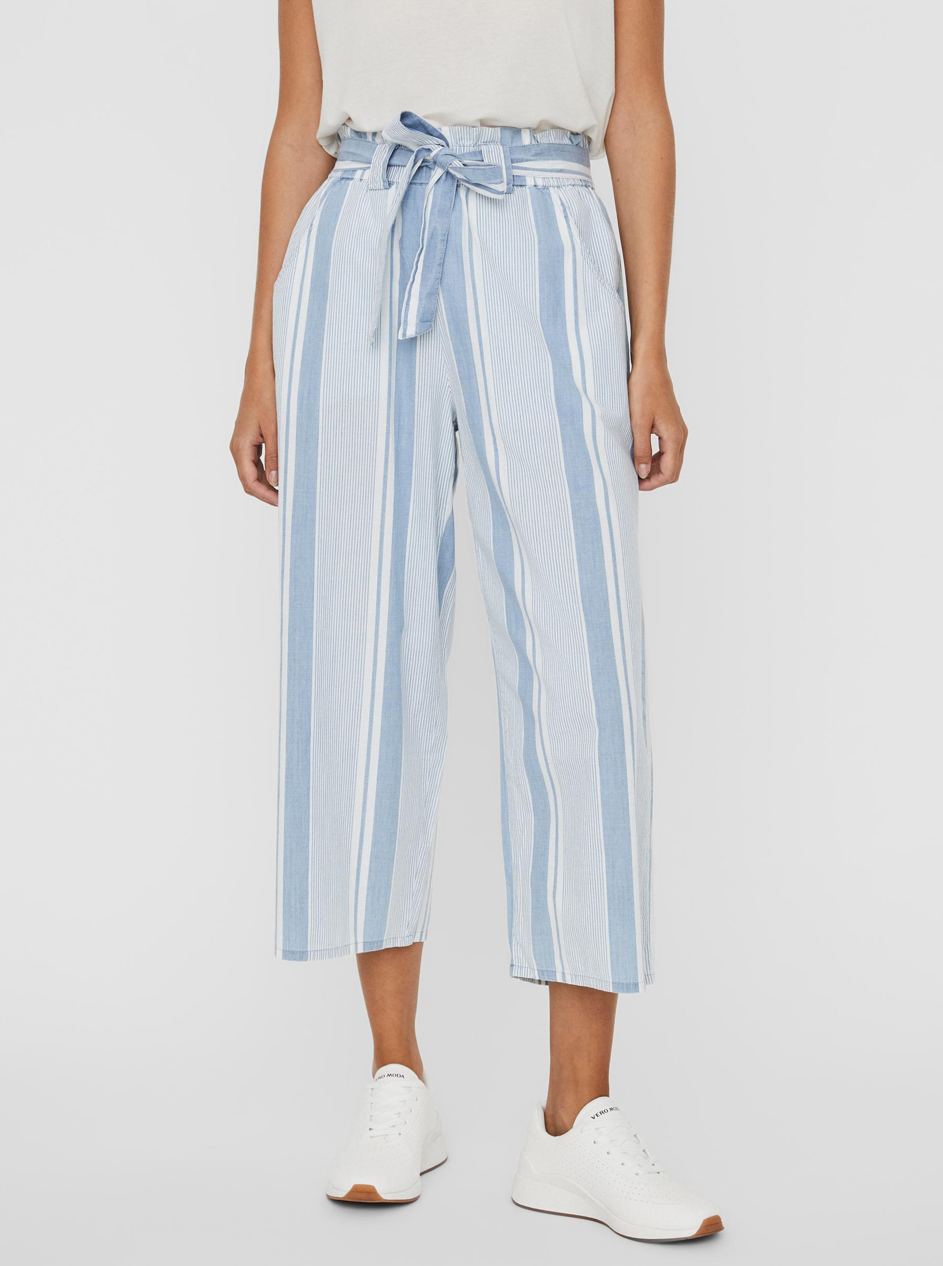 Vero Moda modré cullotes nohavice Akela - XS