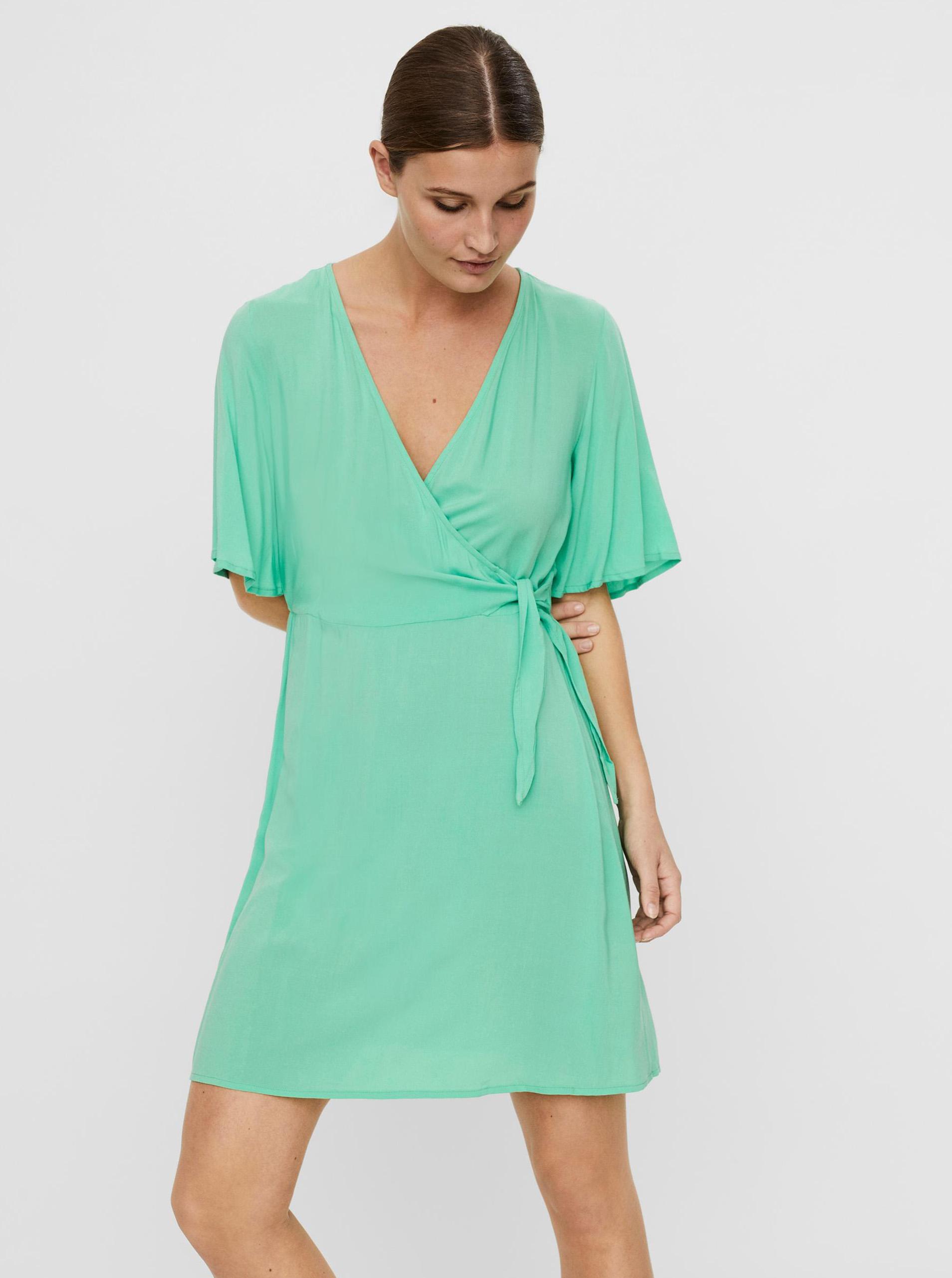 Vero Moda zelené šaty Ibina - L