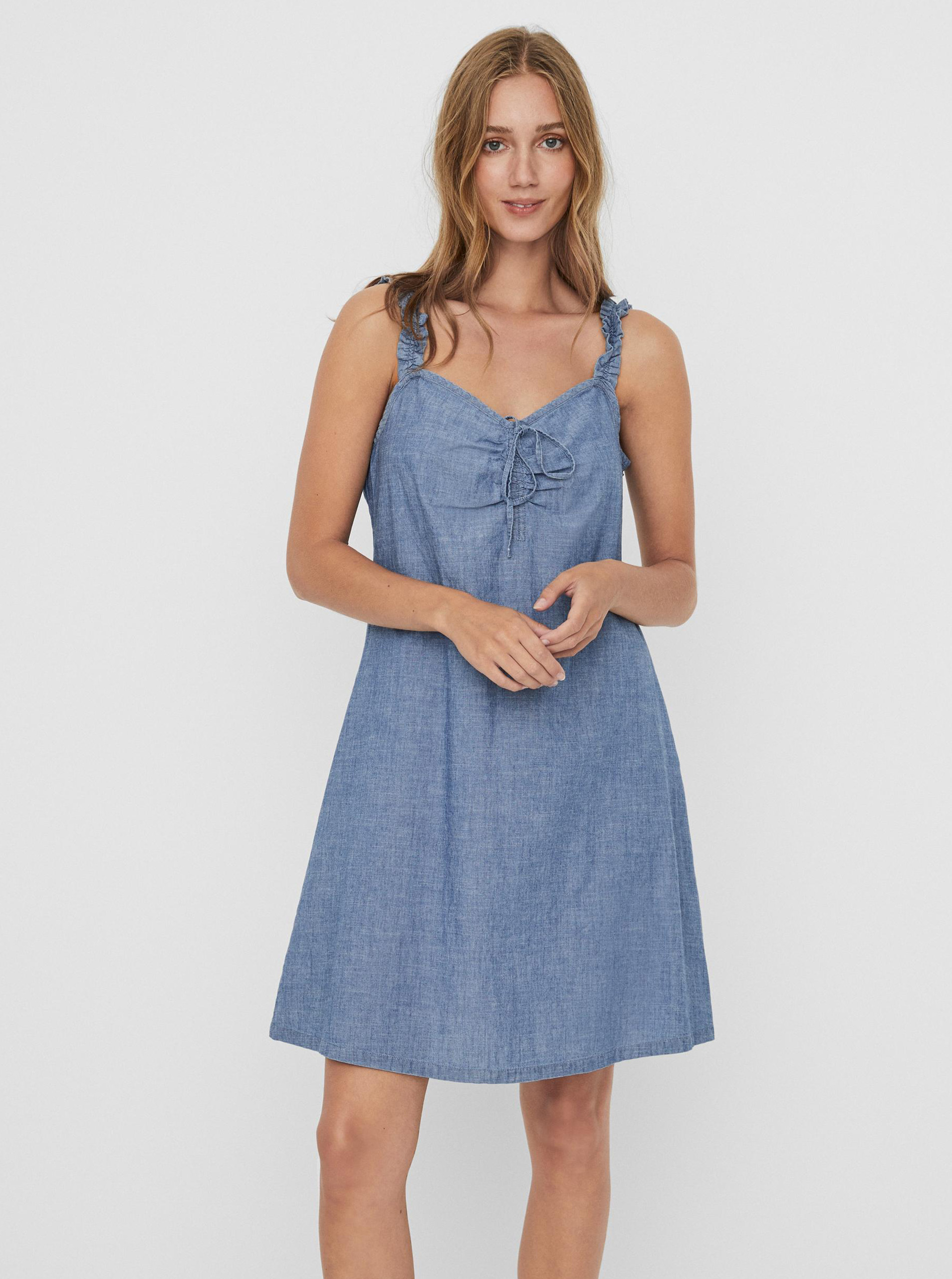 Vero Moda modré šaty Akela - S