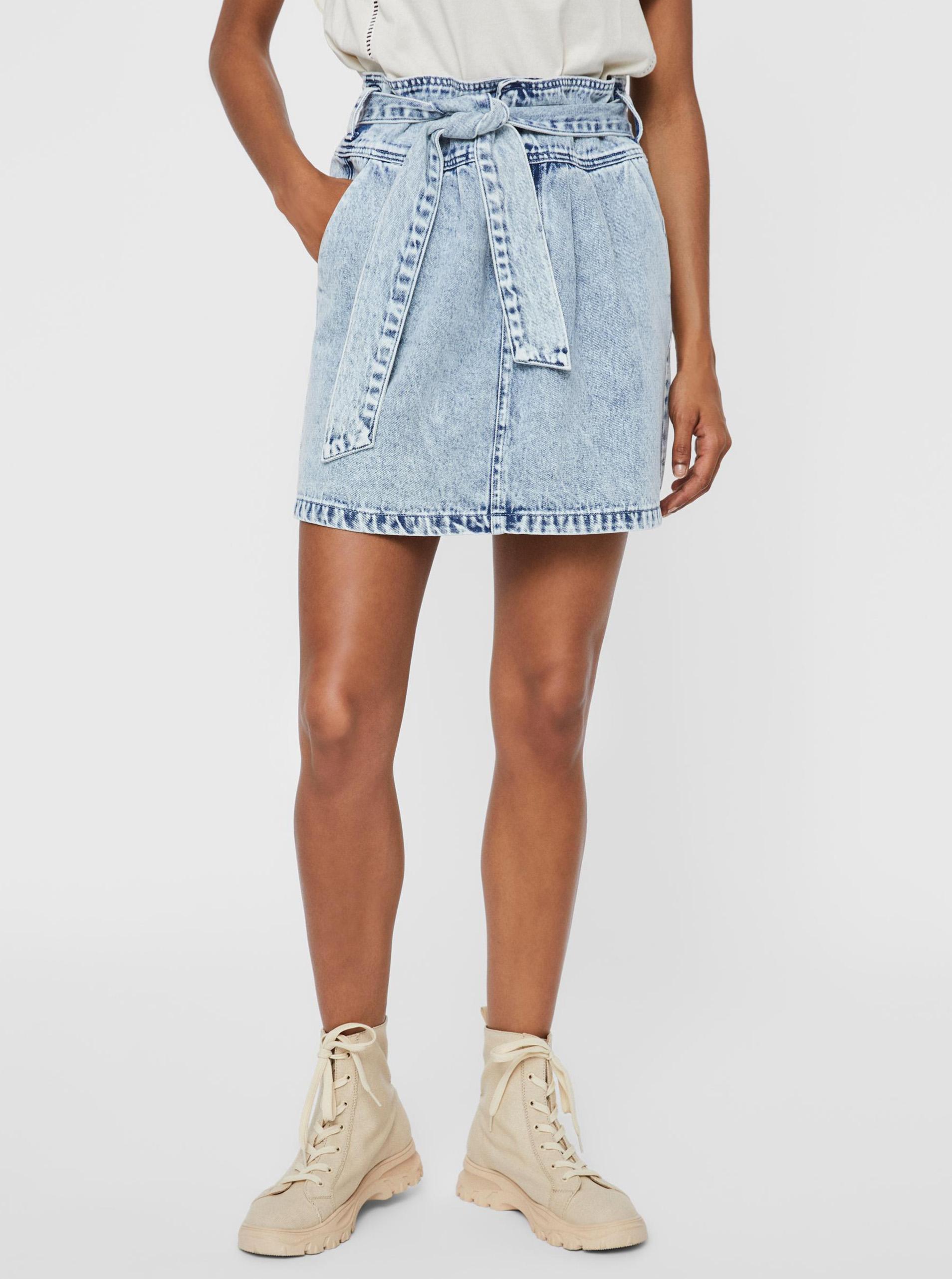 Vero Moda modré džínsová sukňa Katie - XS