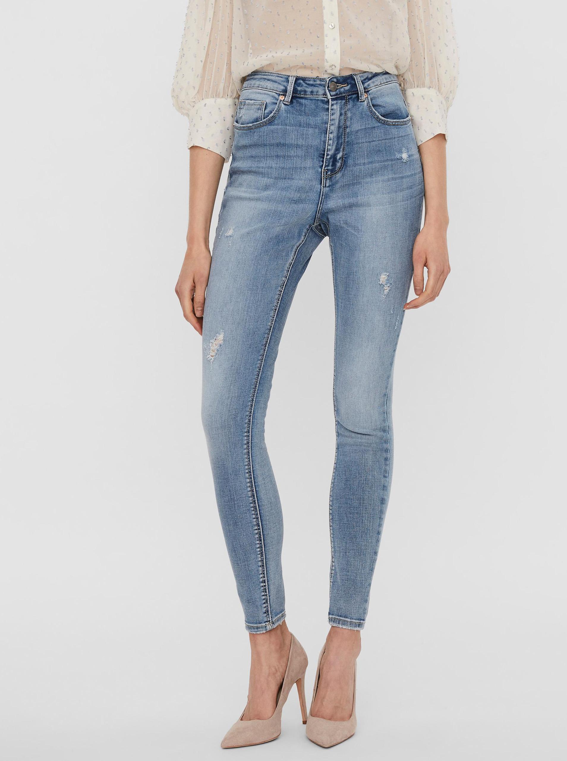 Vero Moda modré skinny fit džínsy Sophia - S
