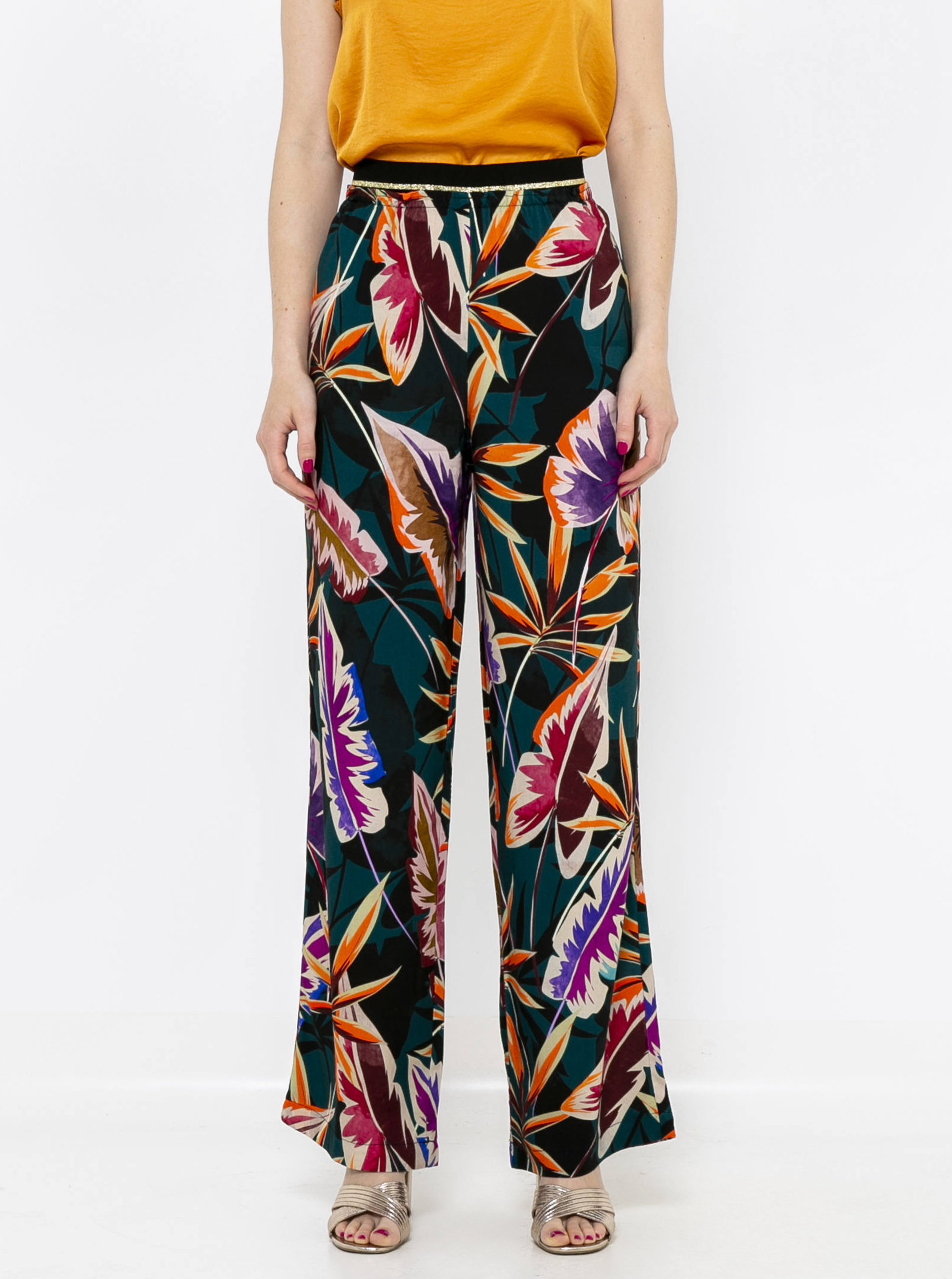 CAMAIEU čierne široké nohavice - XL