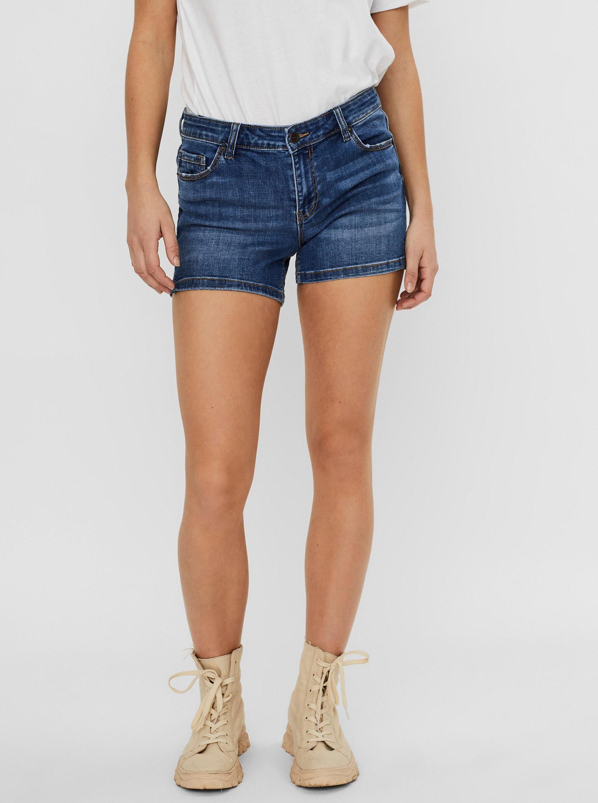 Vero Moda modré džínsové kraťasy Lydia - XL