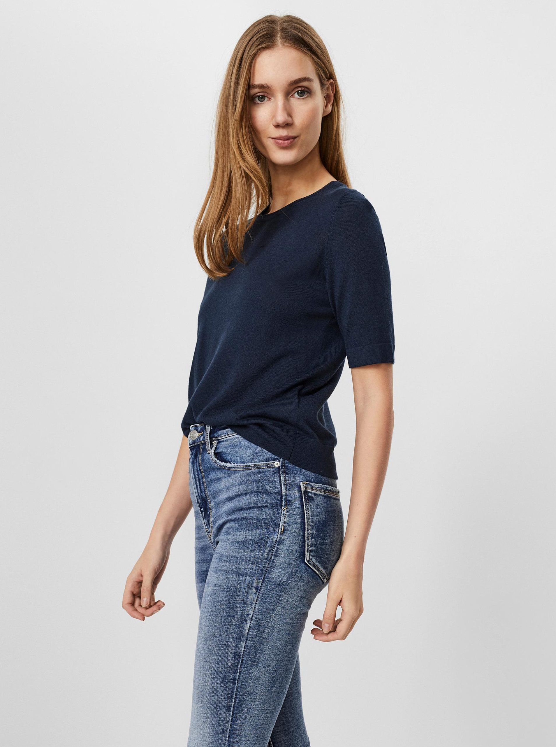 Vero Moda modré tričko Silke - S