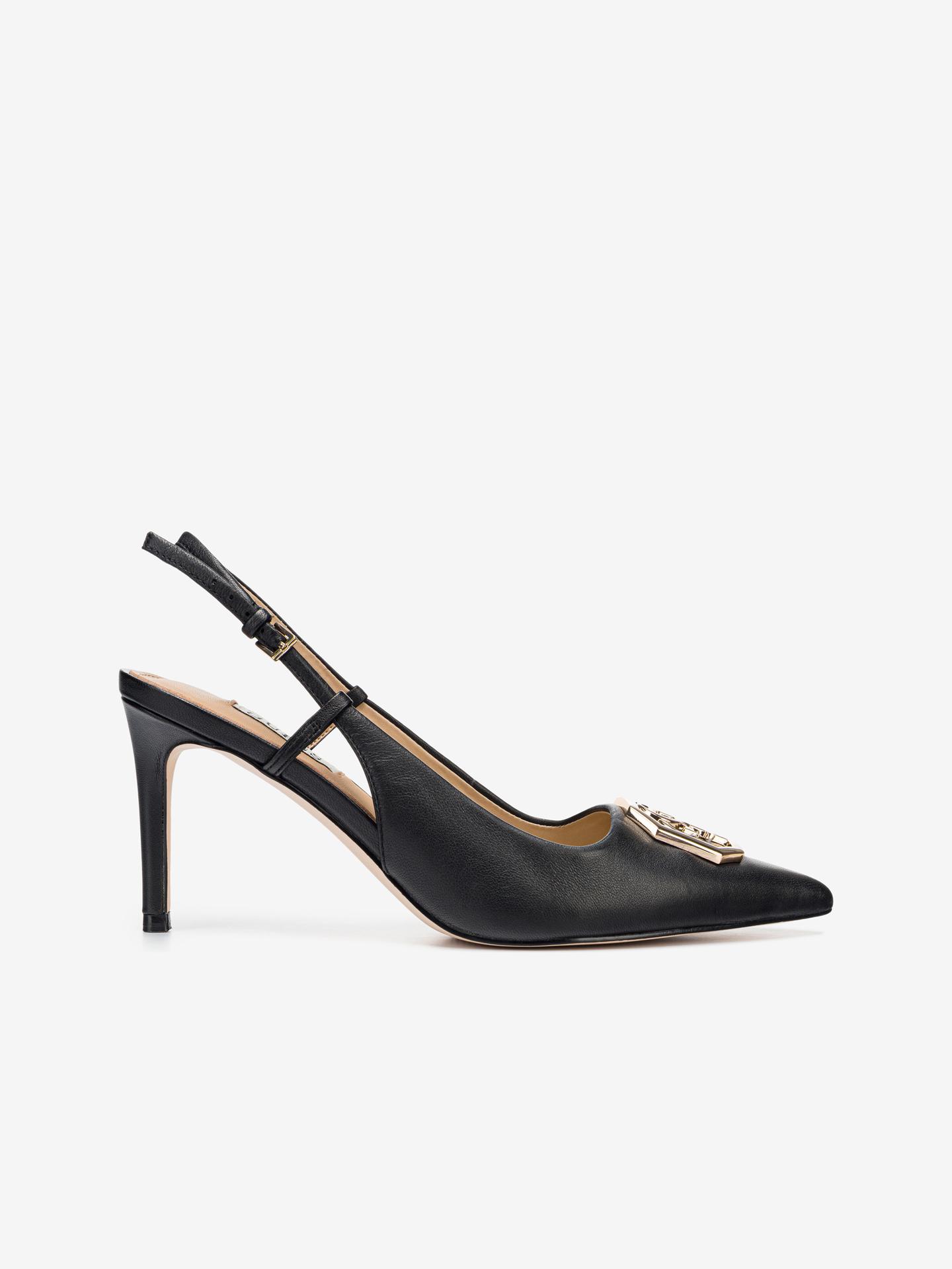 Guess čierne topánky na podpätku Aleny - 36