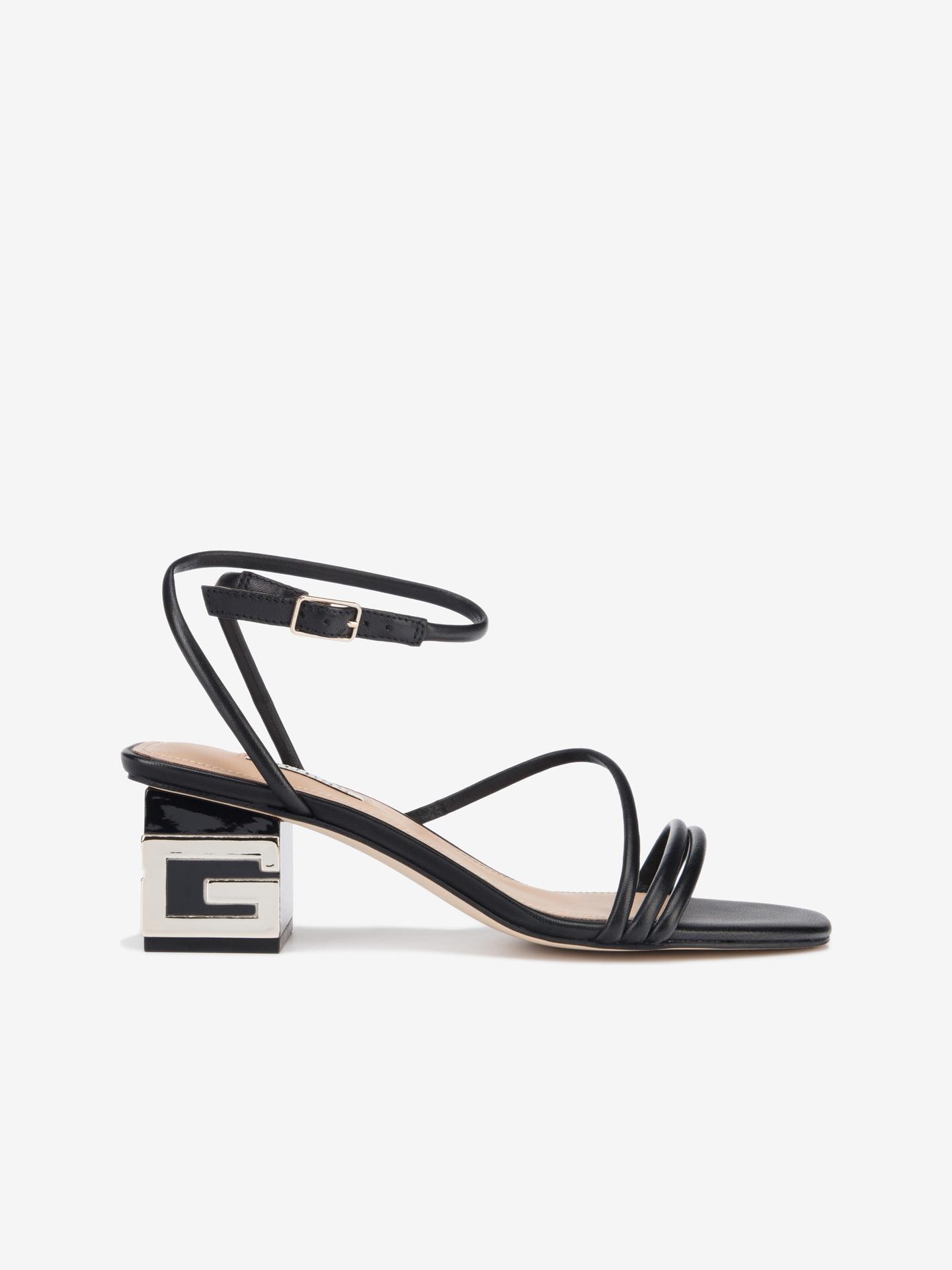 Guess čierne topánky Macre na podpätku - 40