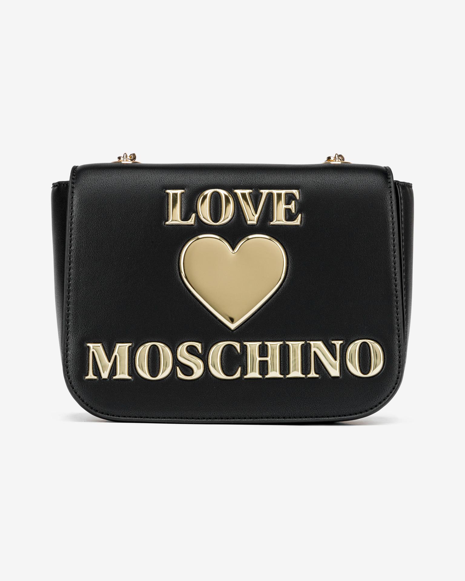 Love Moschino čierne crossbody kabelka