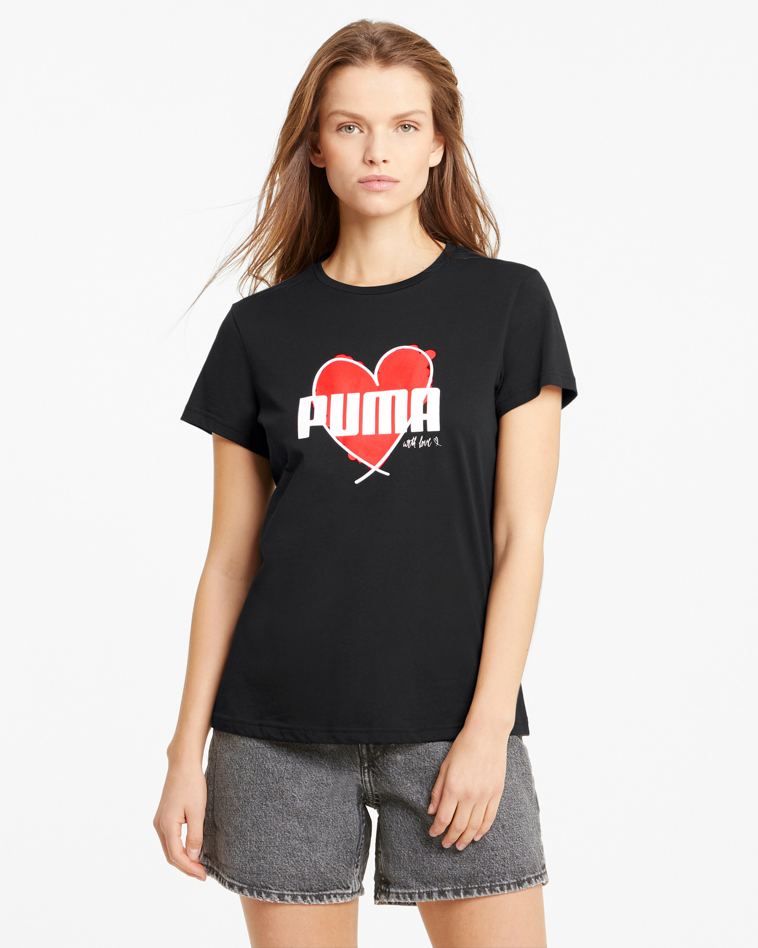Puma čierne dámske tričko Heart - M