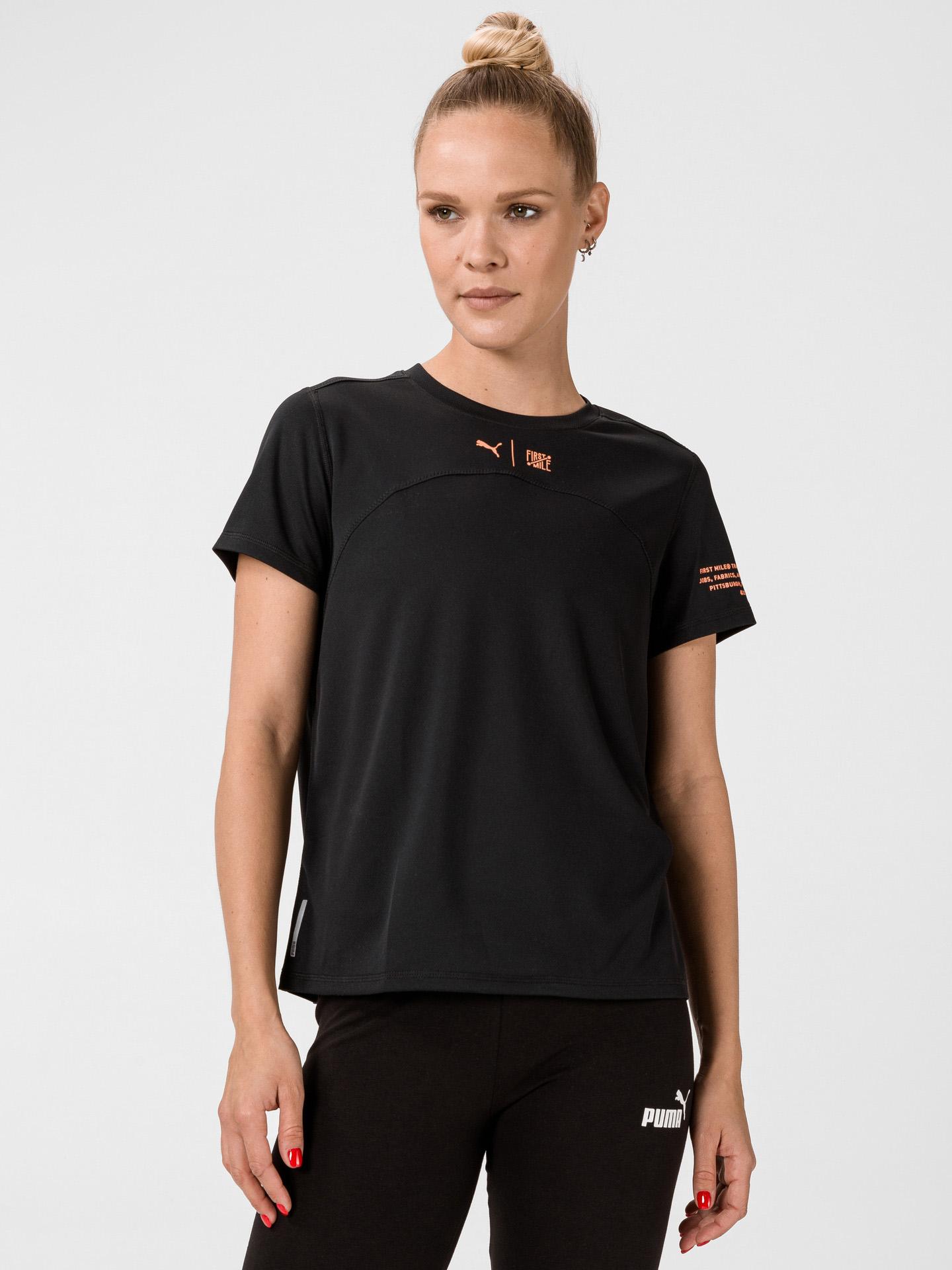 Puma čierne dámske tričko The First Mile - L
