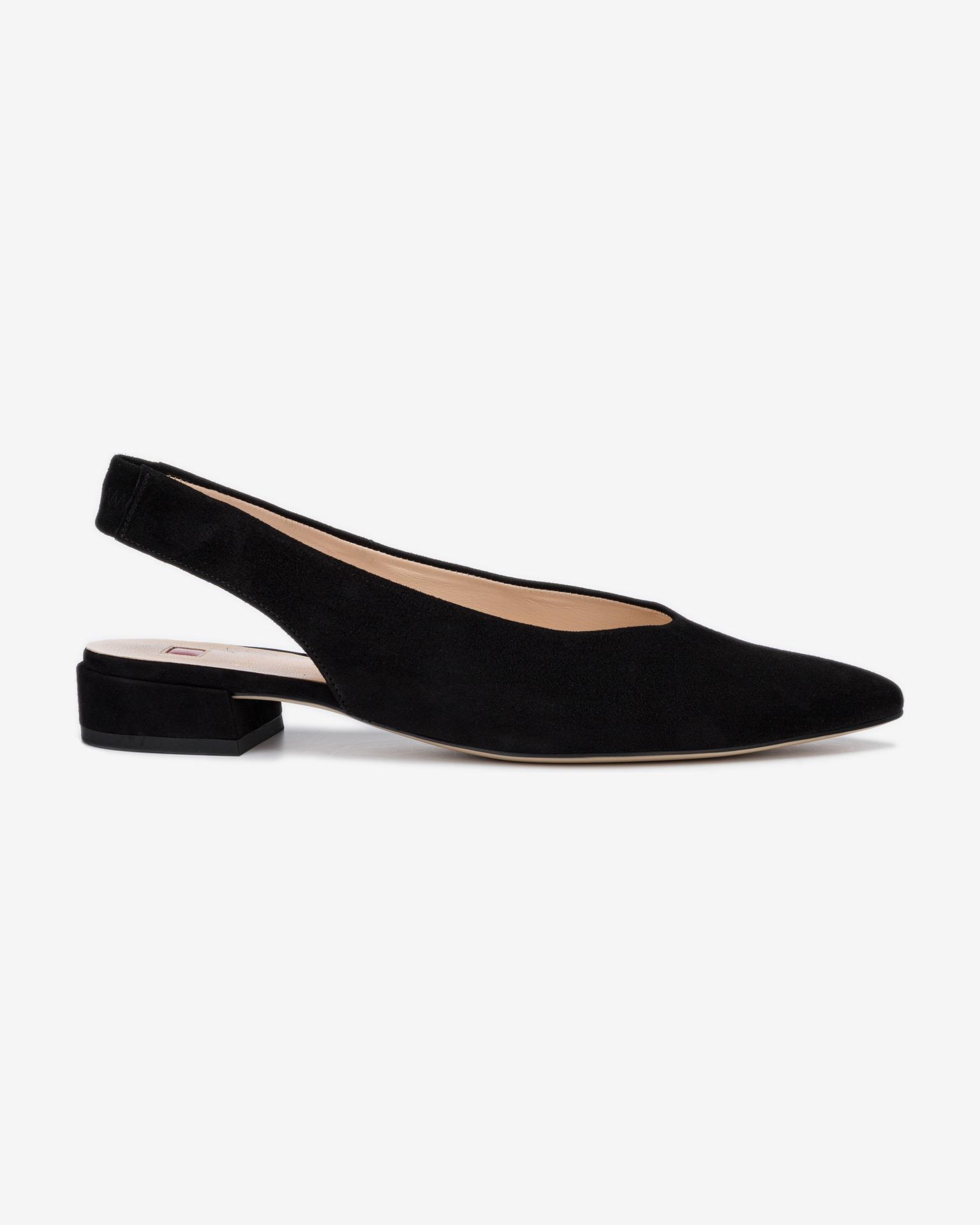 Högl čierne kožené topánky na podpätku - 40