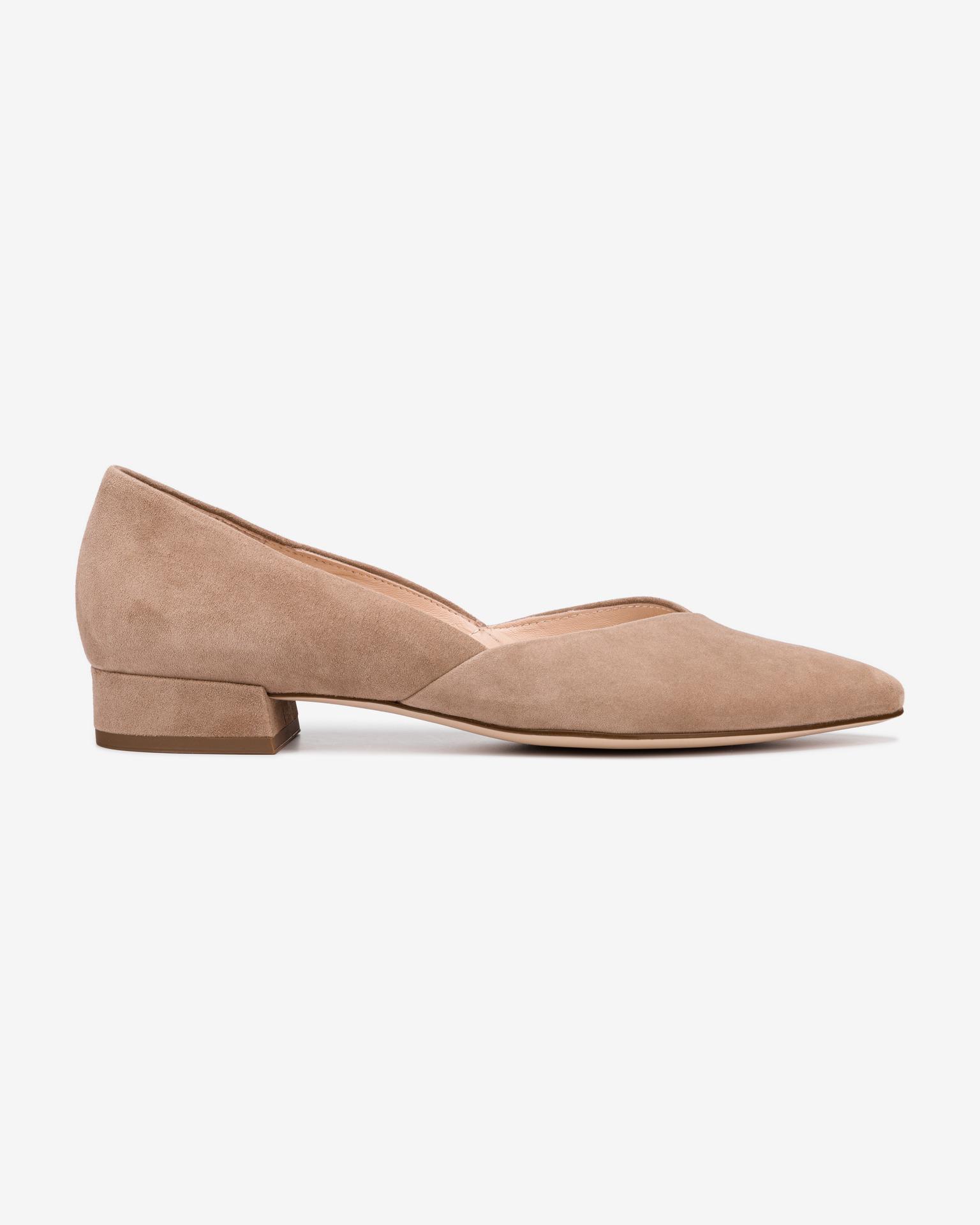 Högl hnedé kožené topánky na podpätku - 37