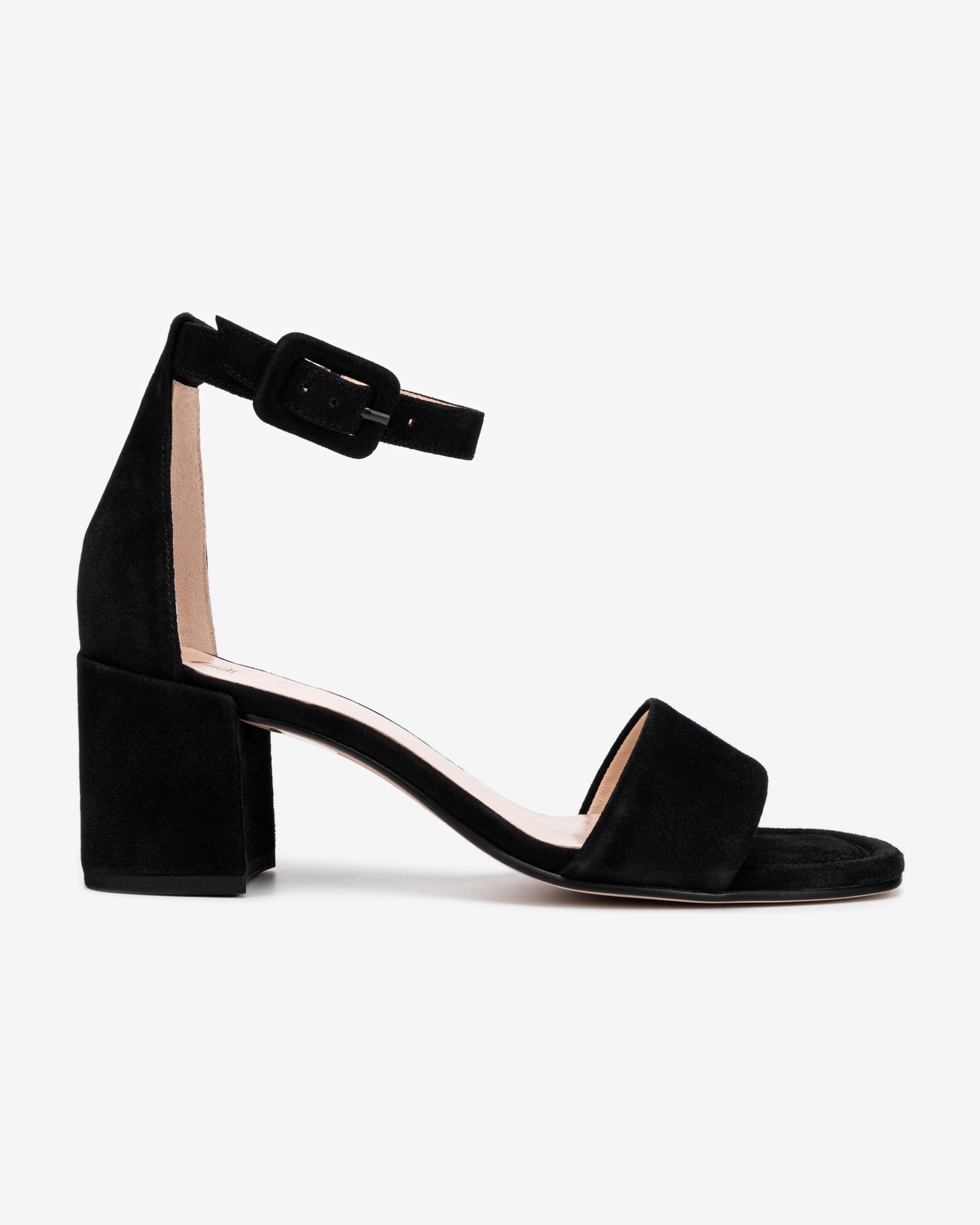 Högl čierne kožené topánky Innocent na podpätku - 36