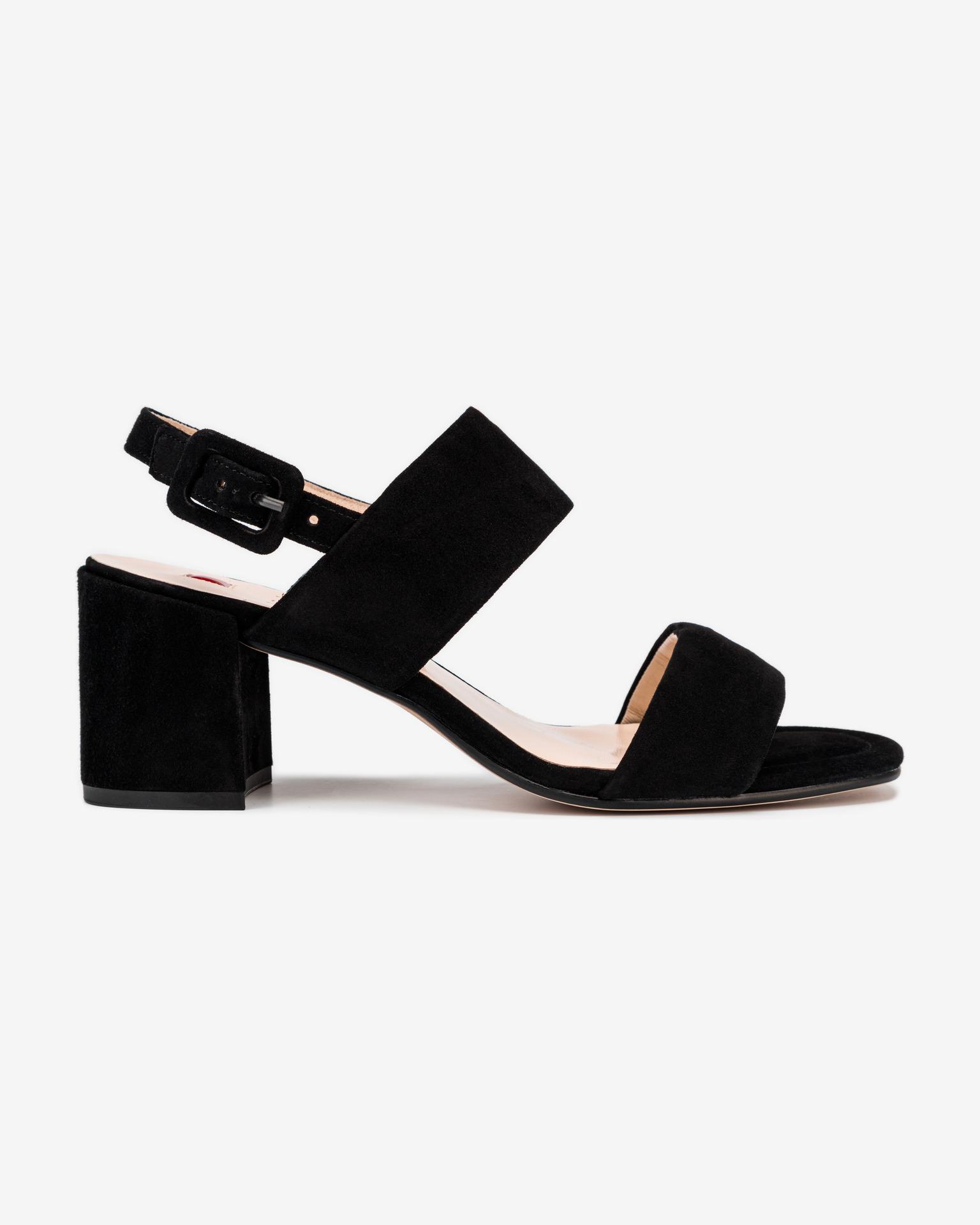 Högl čierne kožené topánky Pure na podpätku - 36