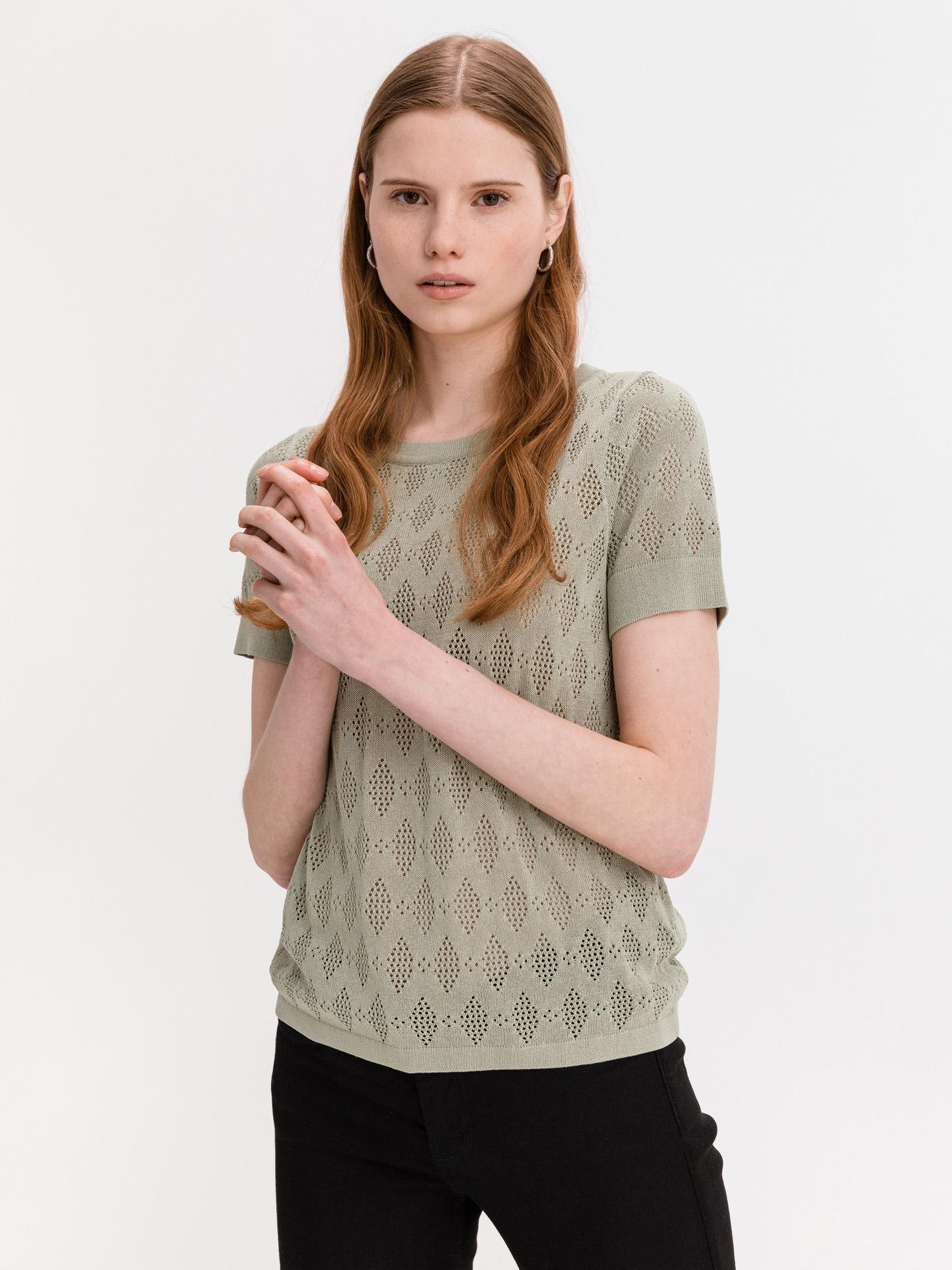 Ichi khaki dámsky sveter Marinda - L