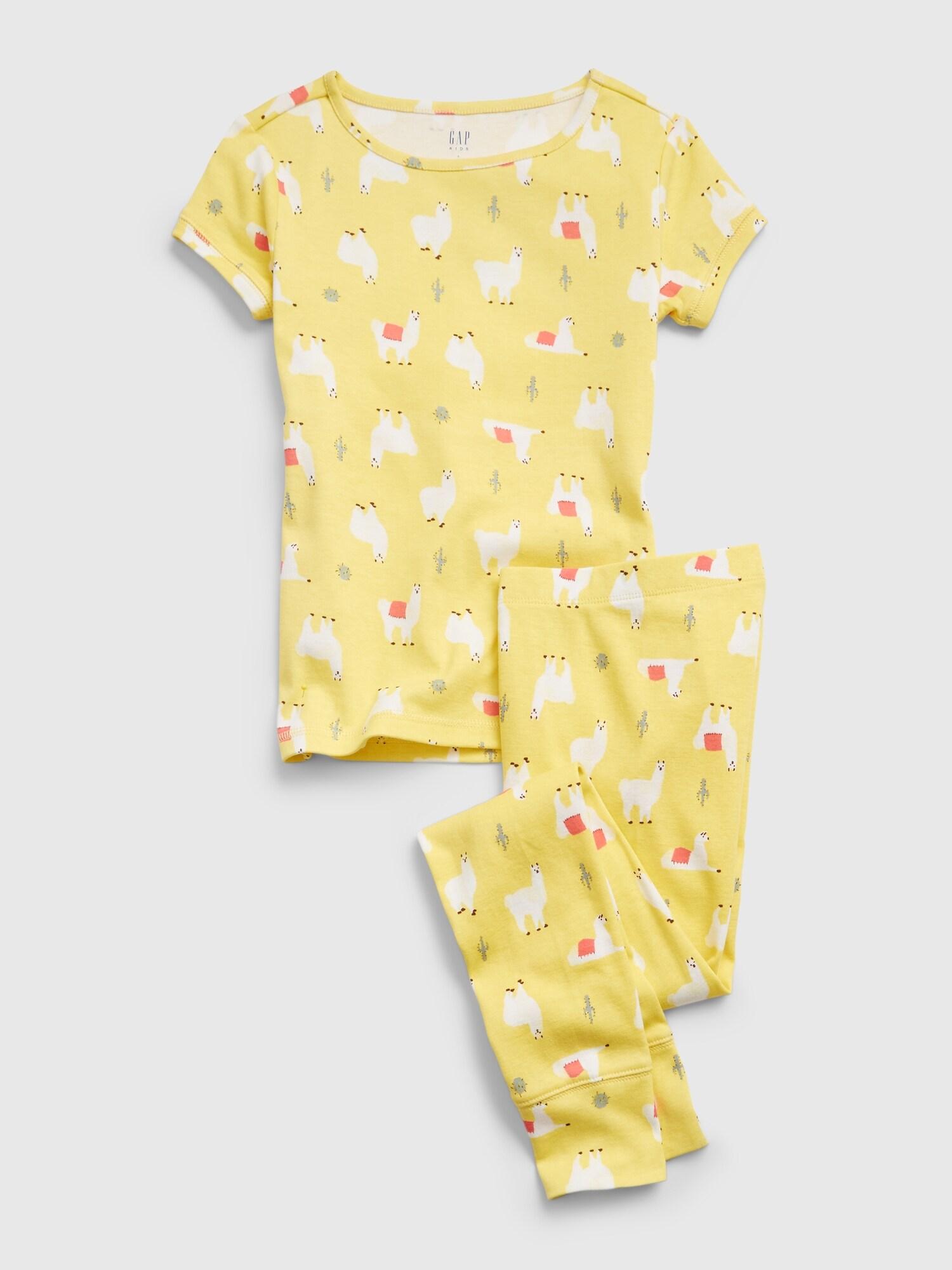GAP AO Llama Pyžamo detské Žltá - 116