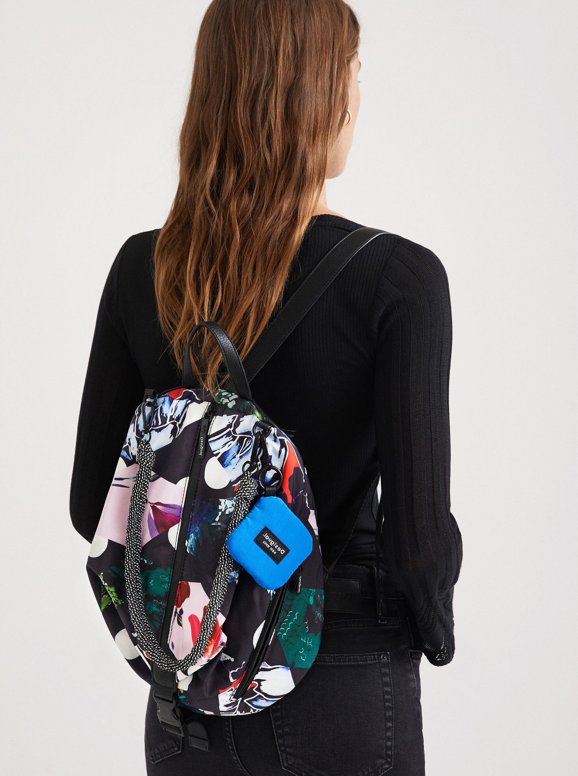 Desigual čierne ruksak Rombos Viana Mini