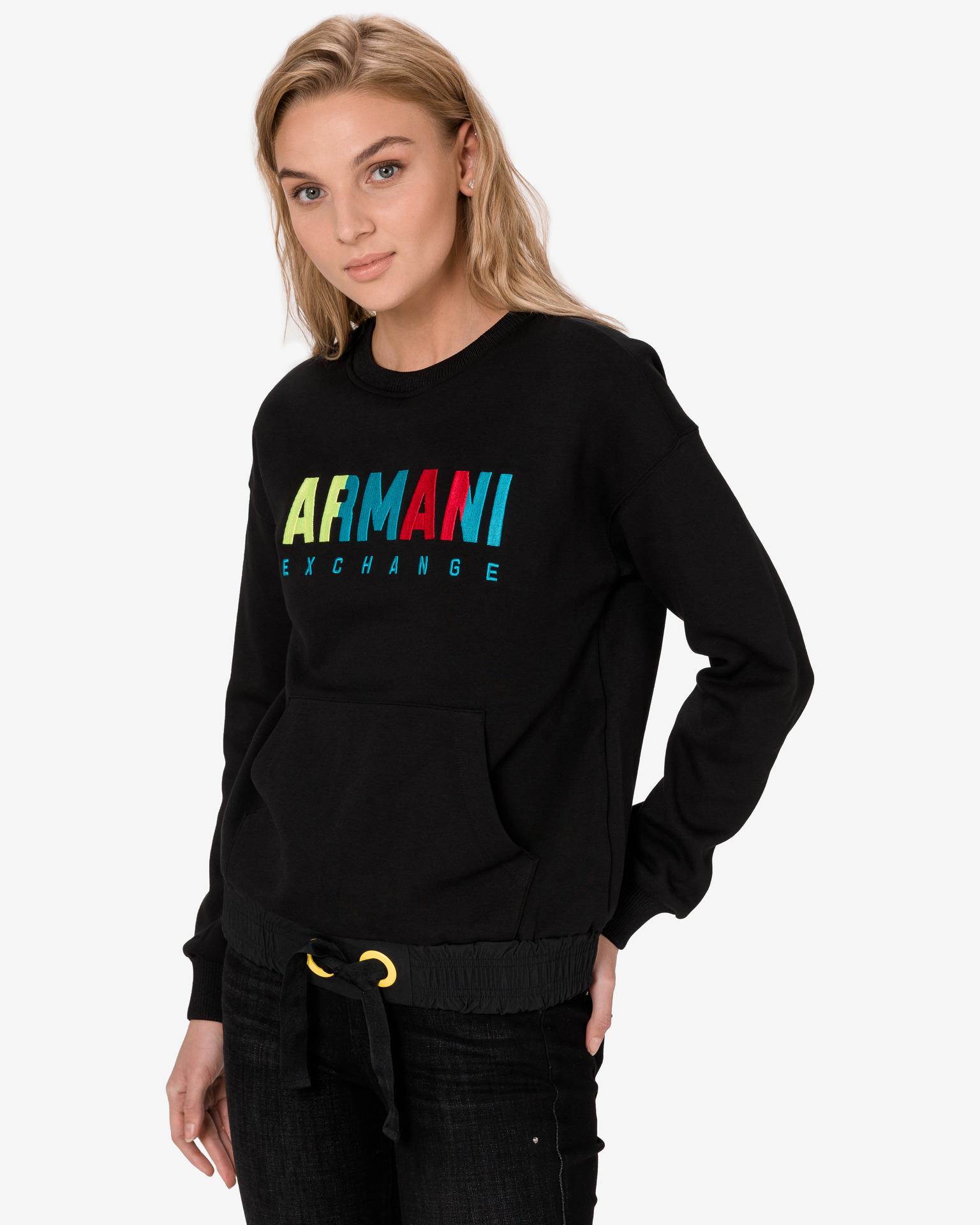 Mikiny pre ženy Armani Exchange - čierna - XS