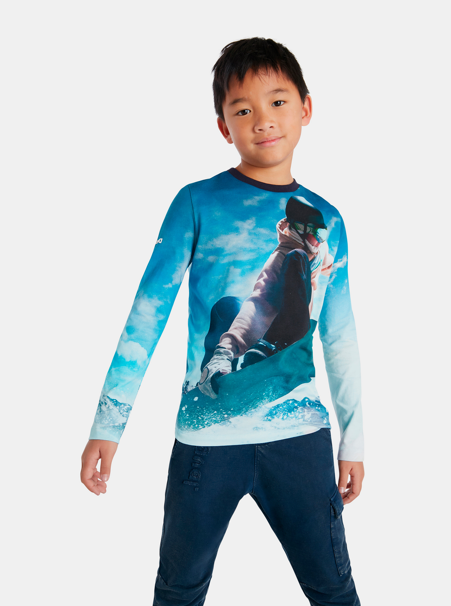 Desigual modré chlapčenské tričko Snow - 110-116
