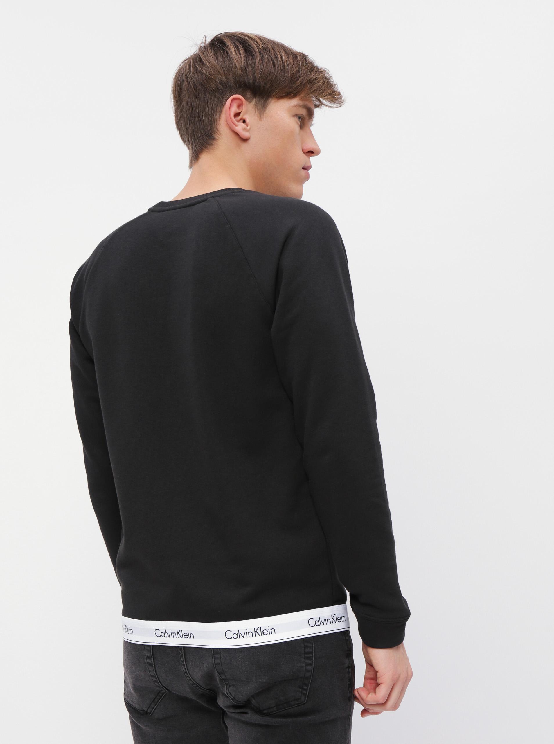 Calvin Klein čierna pánska mikina Sweatshirt