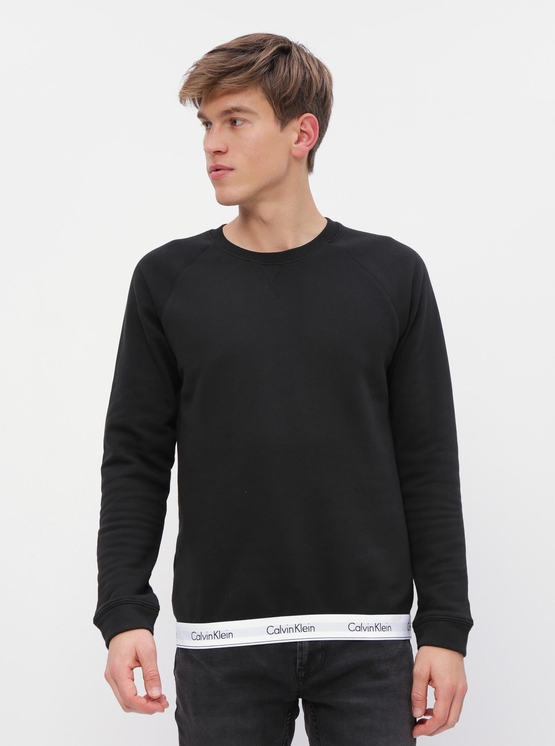 Calvin Klein čierna pánska mikina Sweatshirt - L