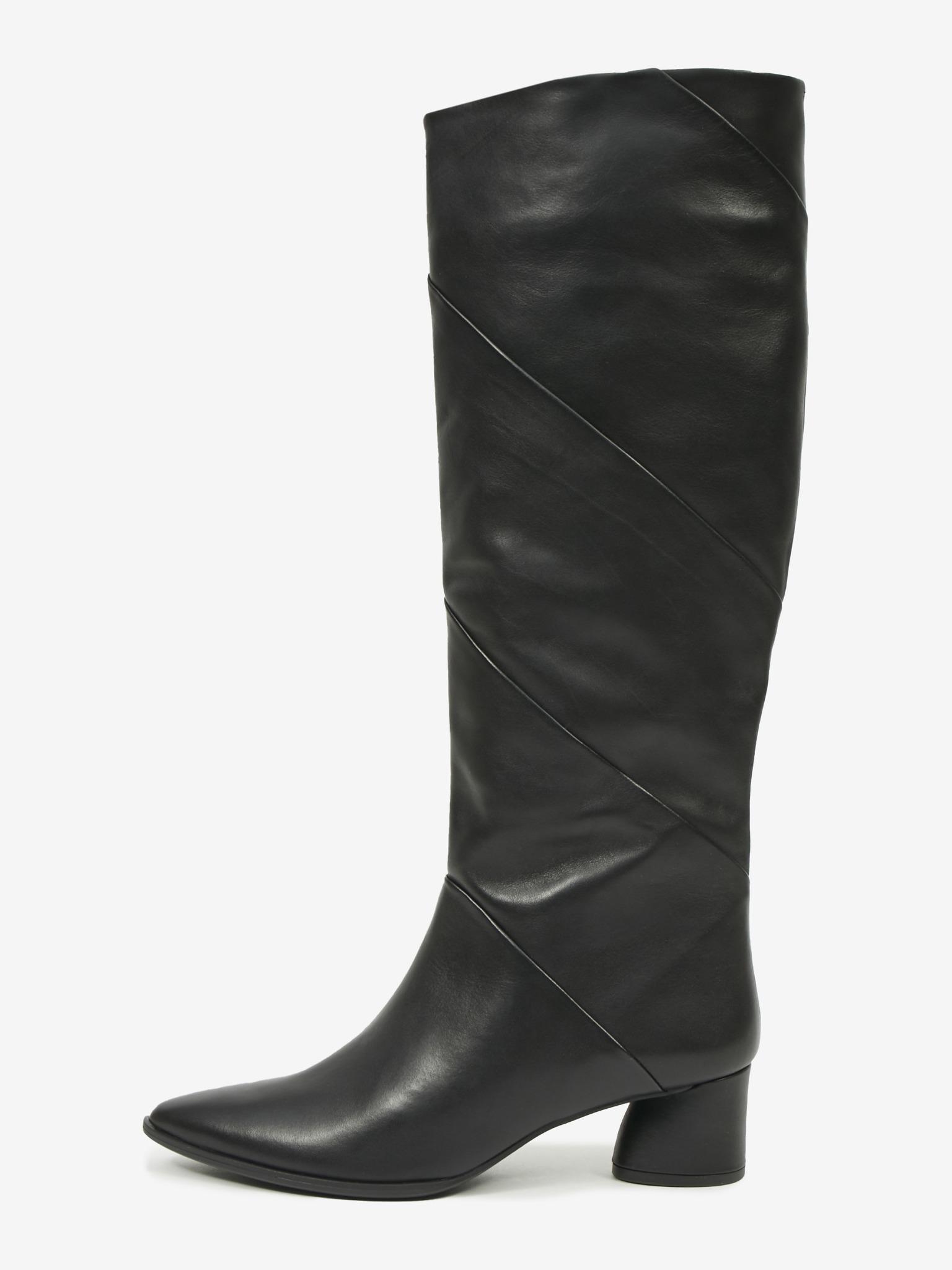 Högl čierne kožené čižmy Nella - 39