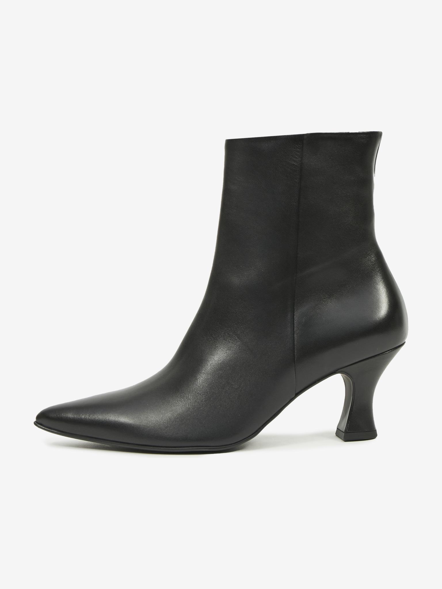Högl čierne členkové topánky Loreen na podpätku - 36