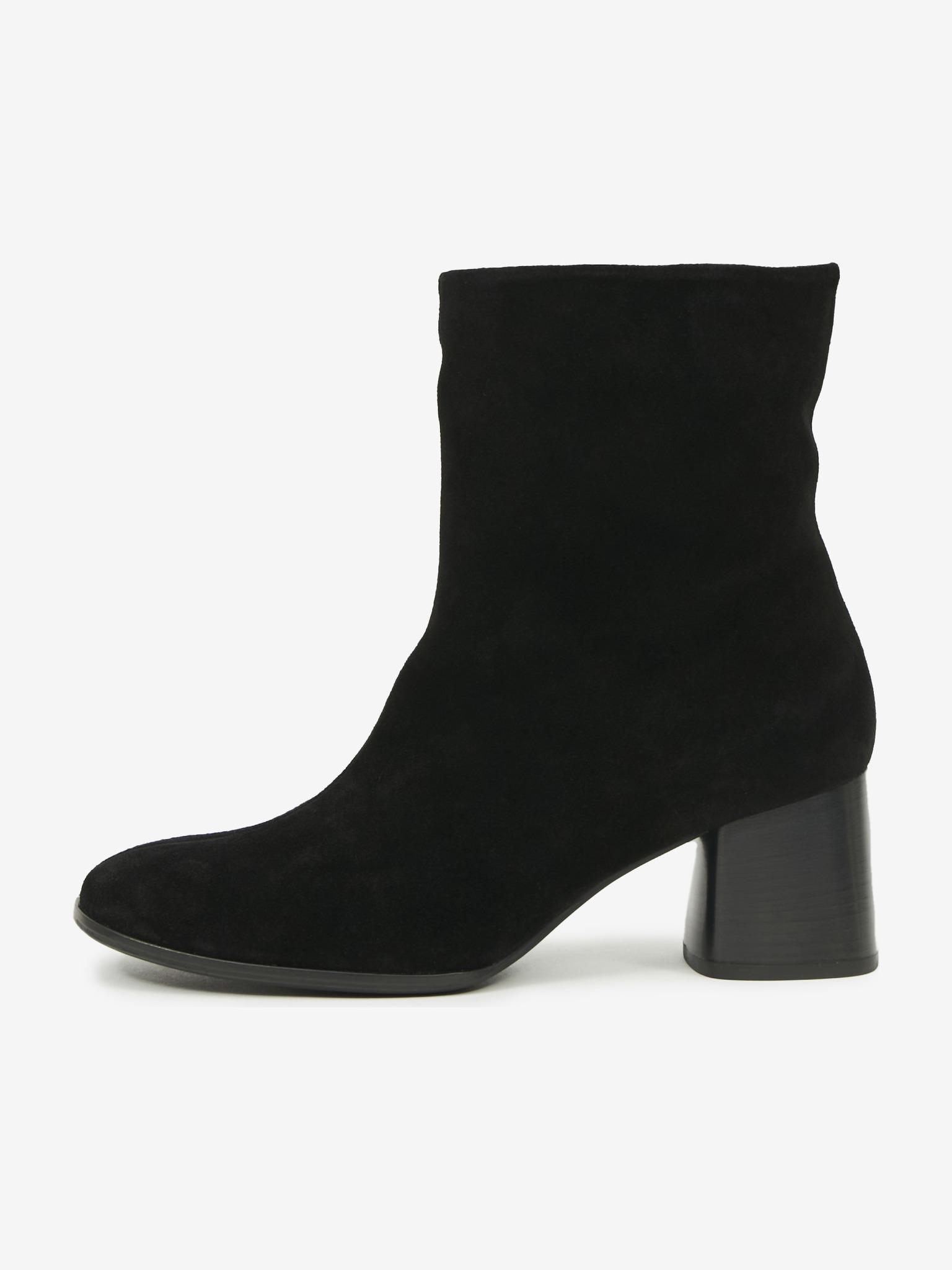 Högl čierne členkové topánky Carina na podpätku - 36