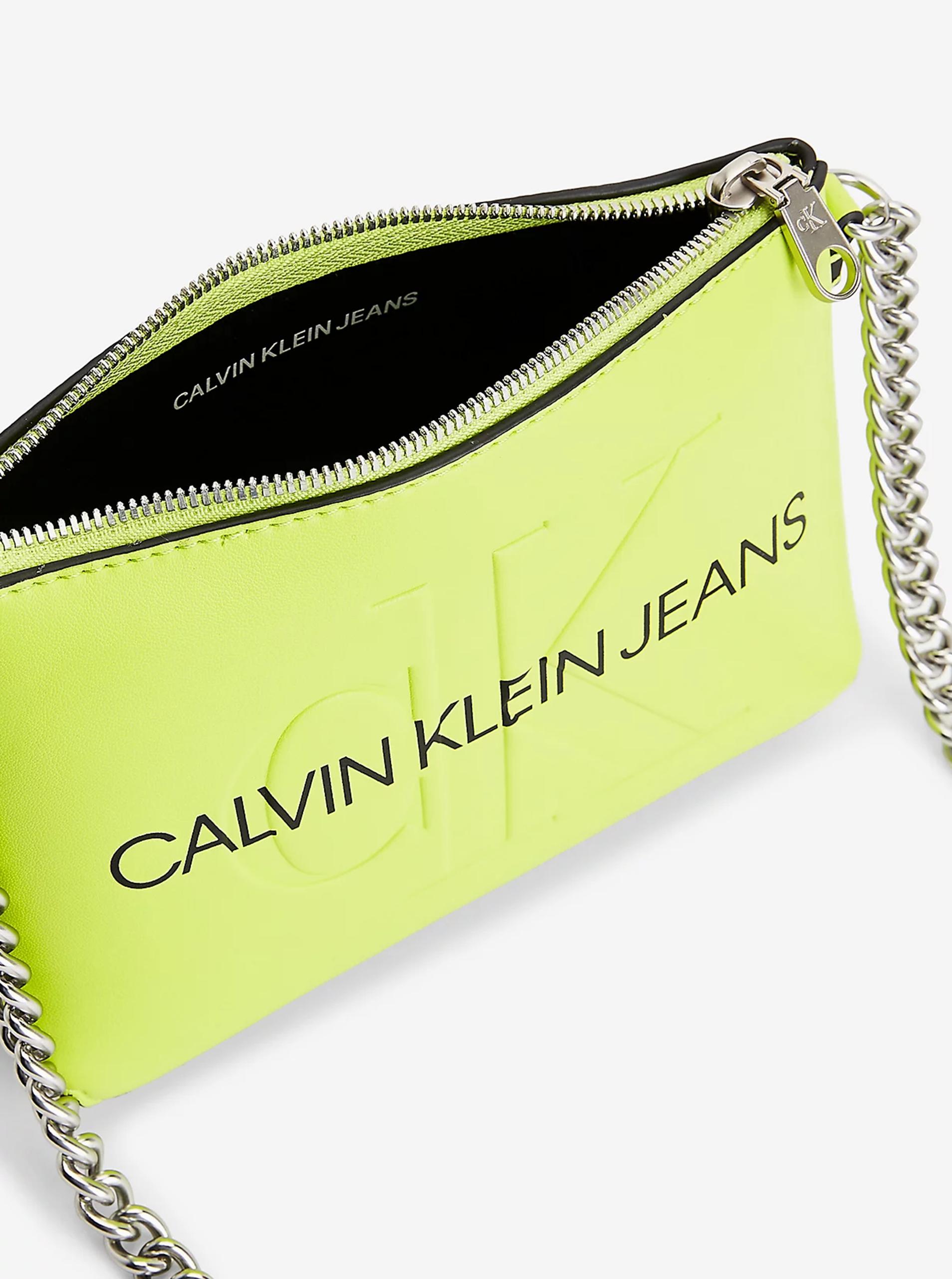 Calvin Klein zelená crossbody kabelka