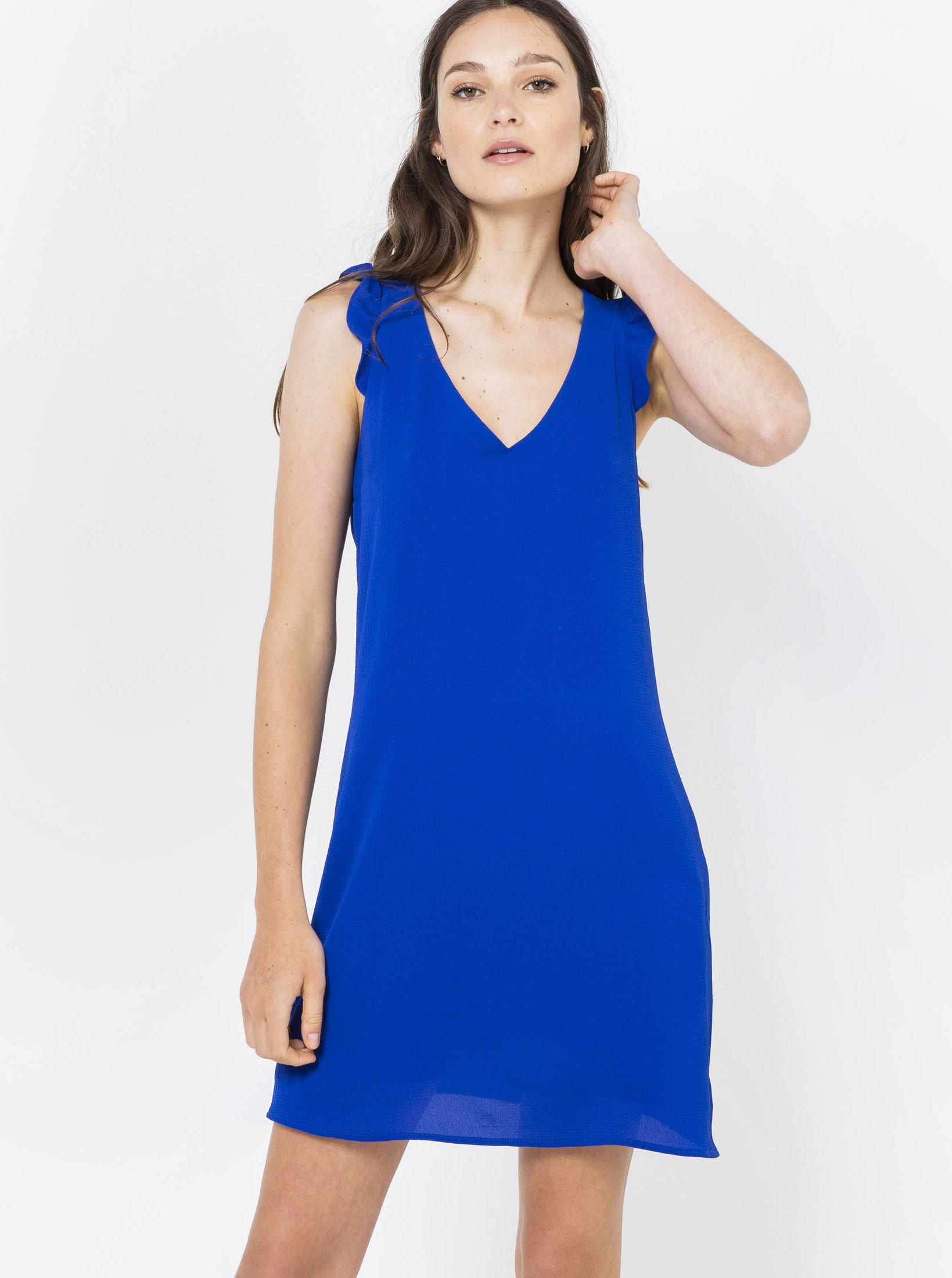 Letné a plážové šaty pre ženy CAMAIEU - modrá - XXL