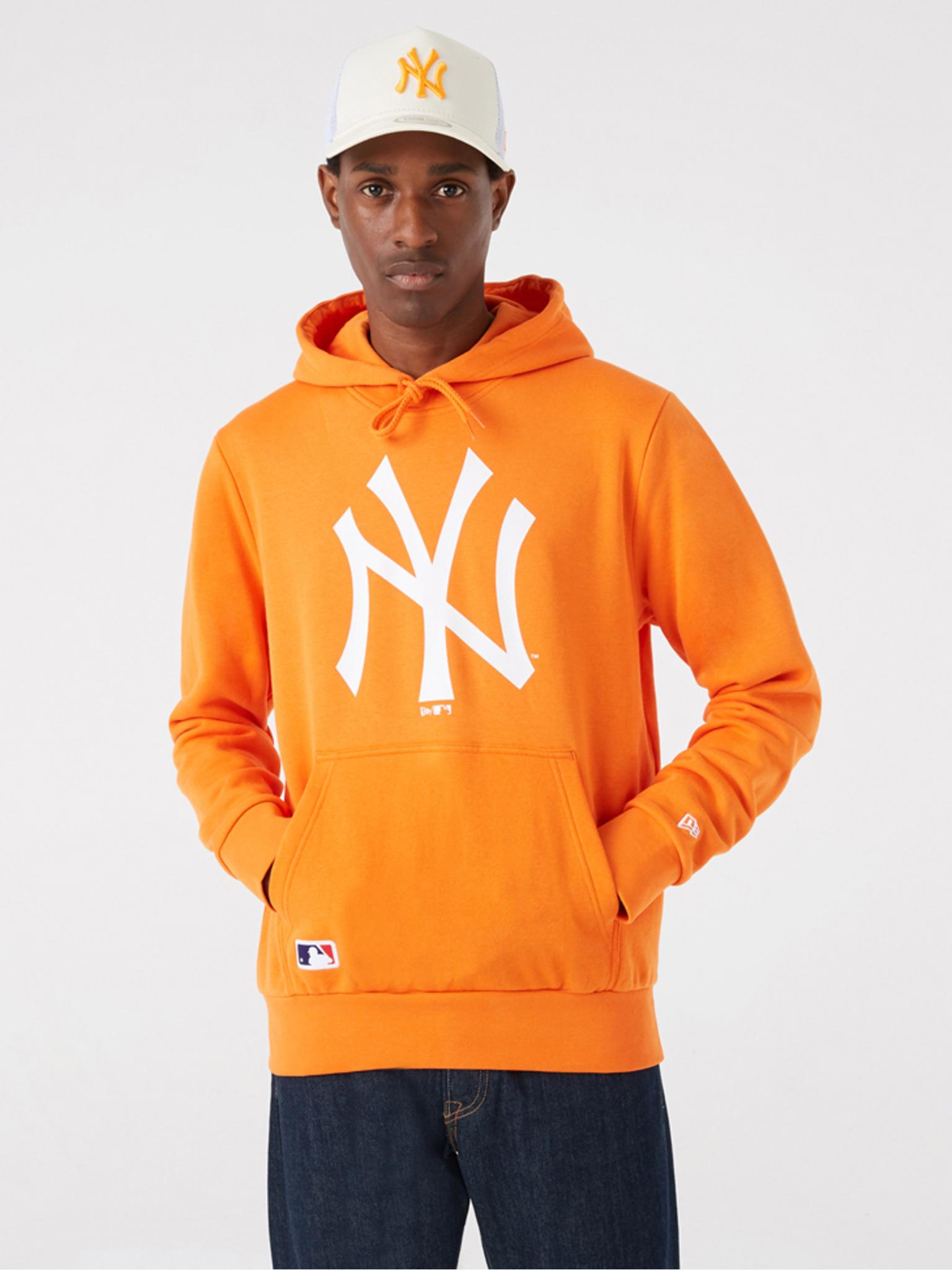 New Era MLB New York Yankees Team Logo Mikina Oranžová - XXL