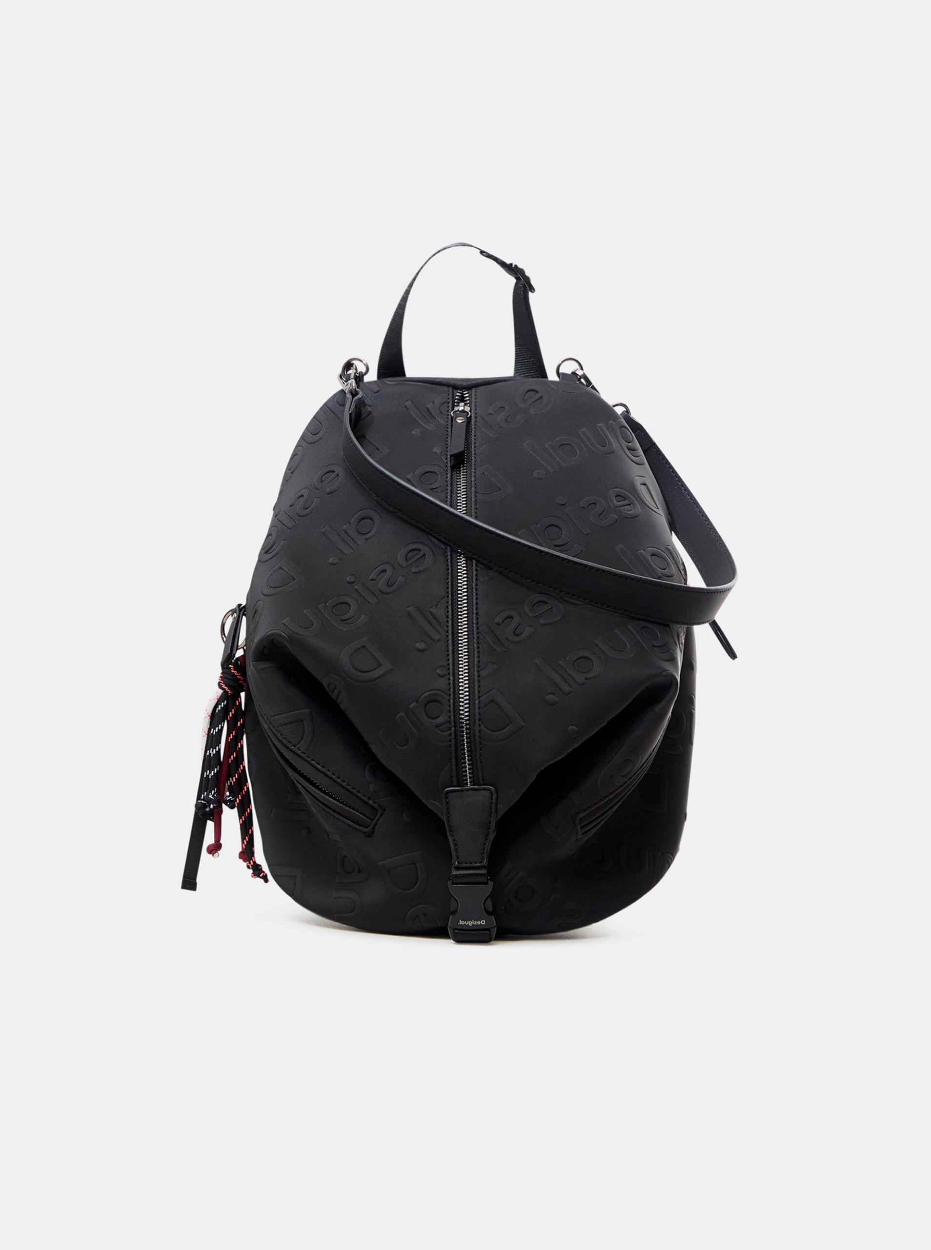 Čierny dámsky vzorovaný batoh Desigual Galia Viana Mini