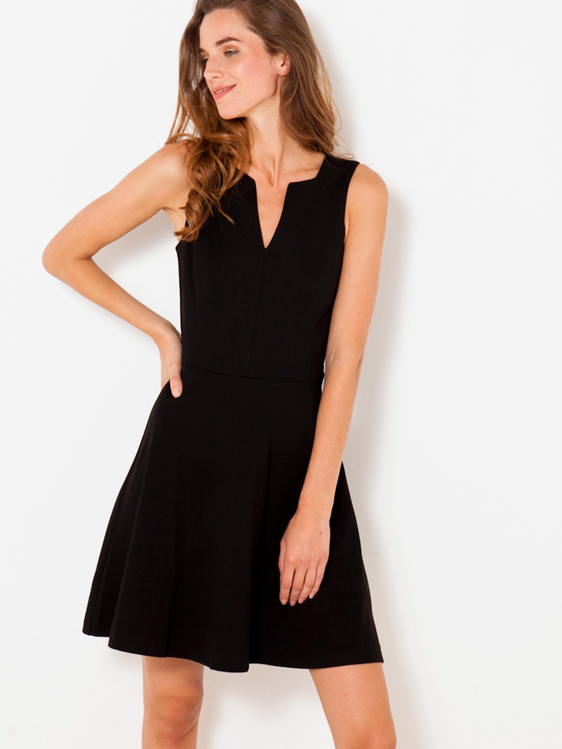 Čierne krátke šaty CAMAIEU - XL