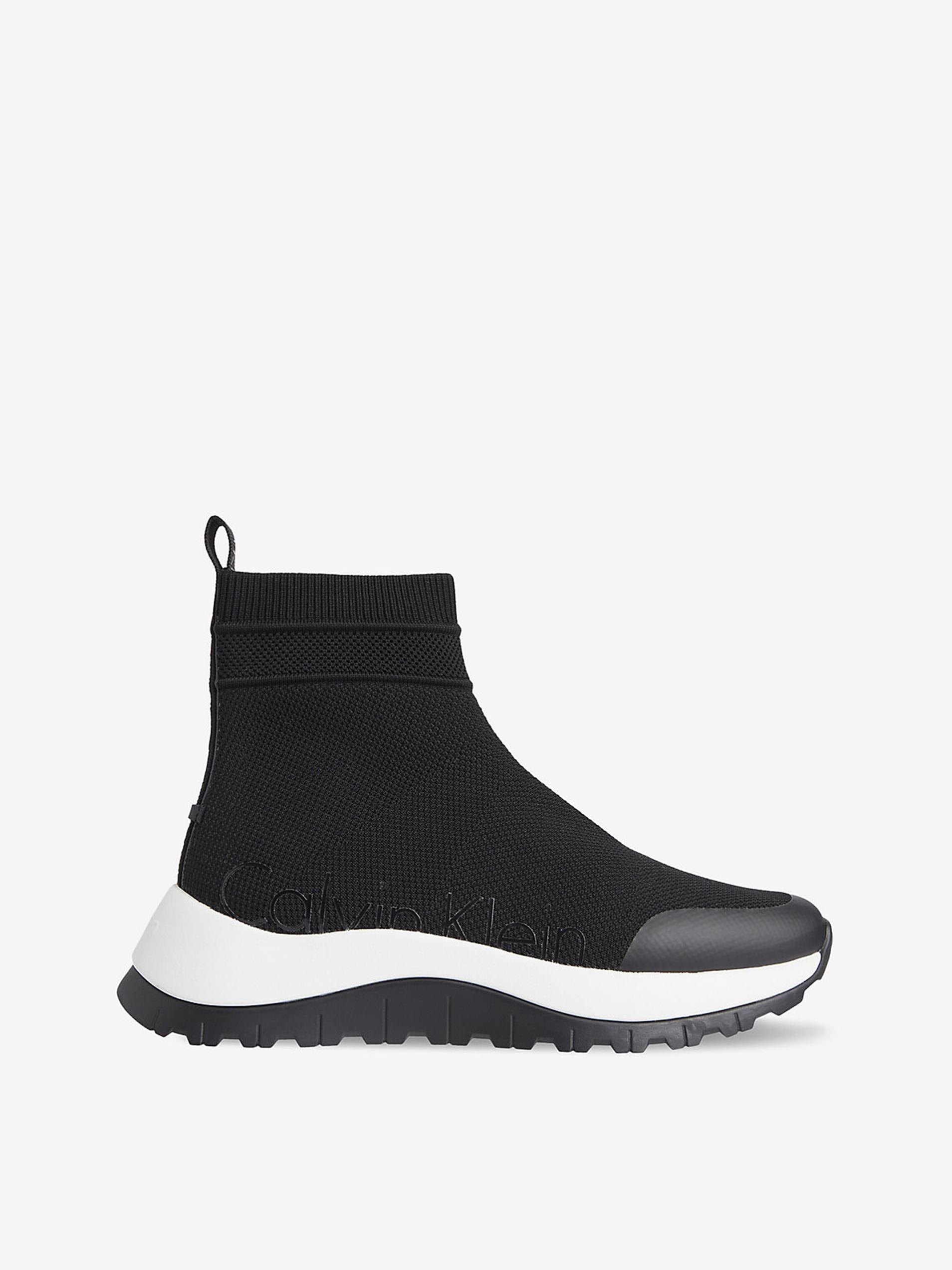 Calvin Klein čierne ponožkové tenisky na platforme - 36