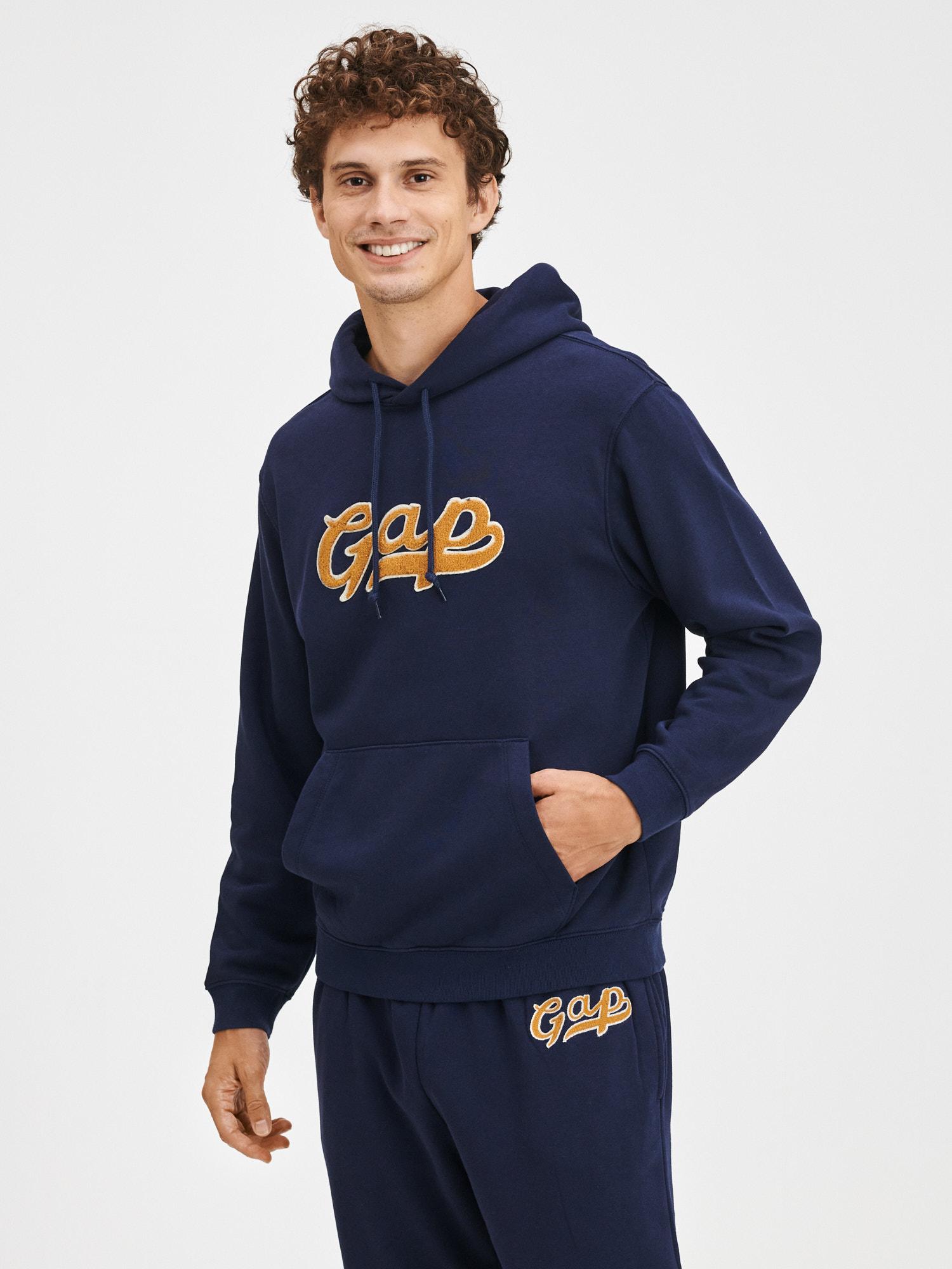 Modrá pánska mikina s logom GAP - XXL