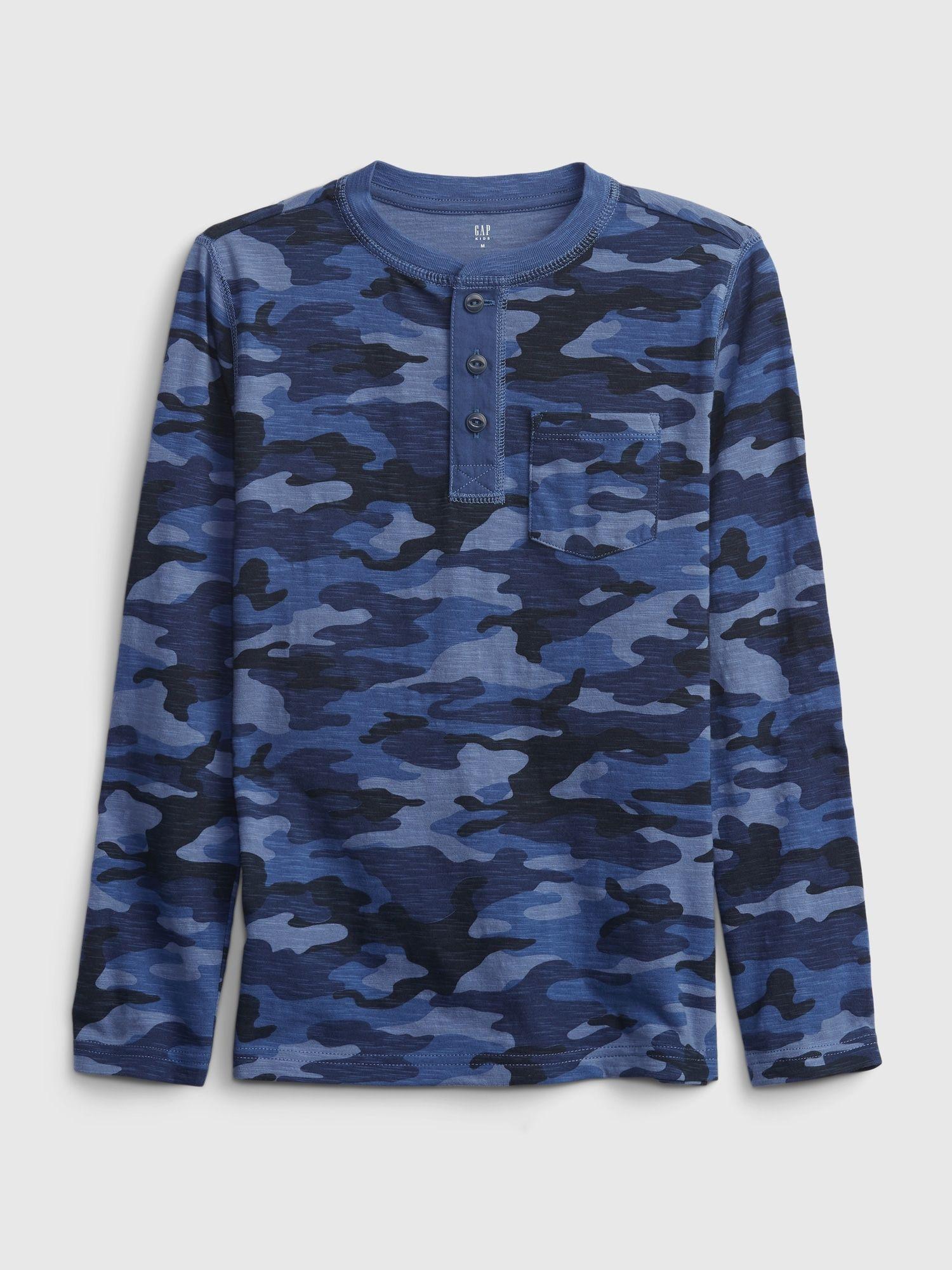 Modré chlapčenské tričko GAP s dlhým rukávom - 146