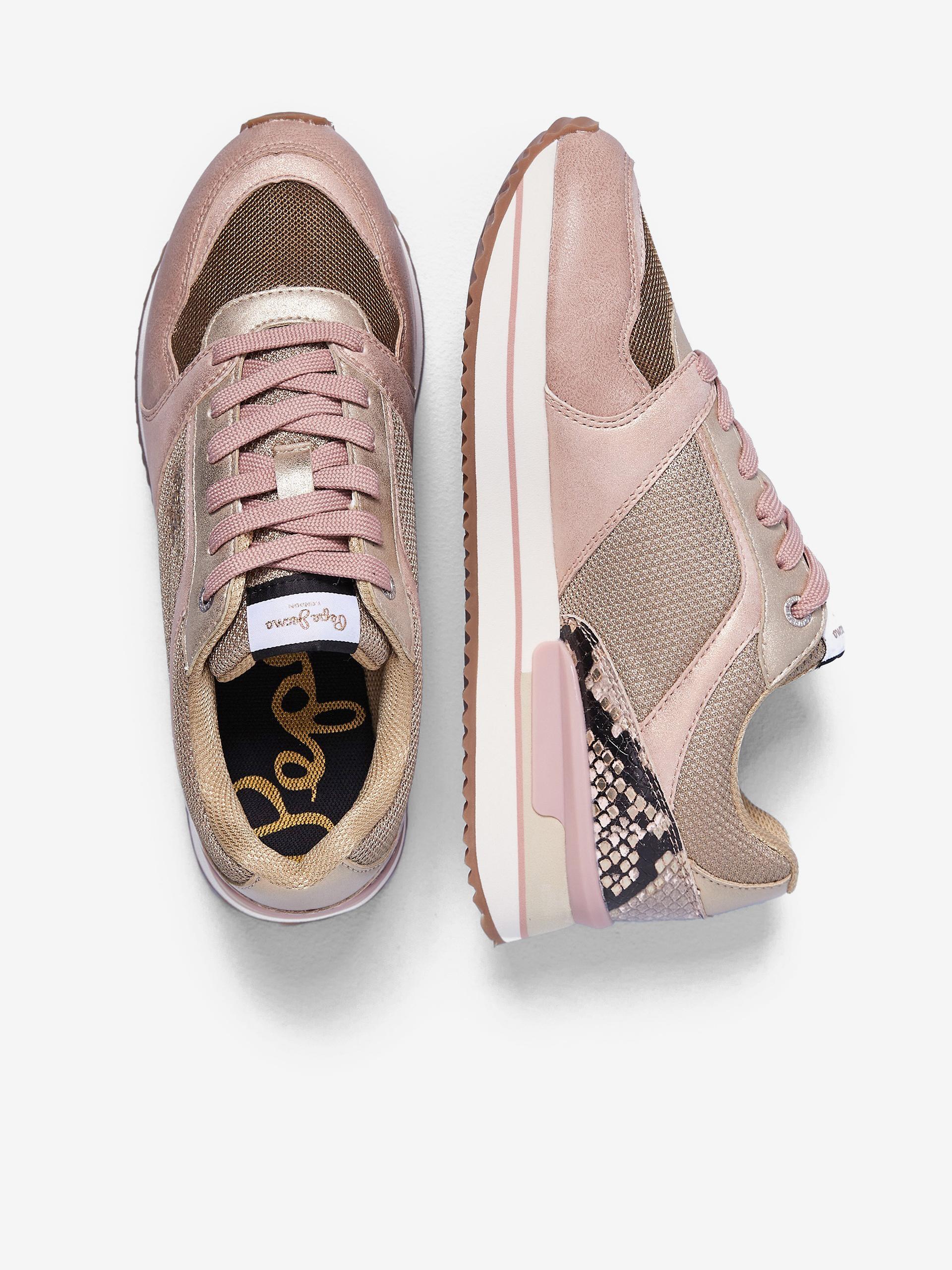 Ružové dámske tenisky na platforme Pepe Jeans Rusper - 36