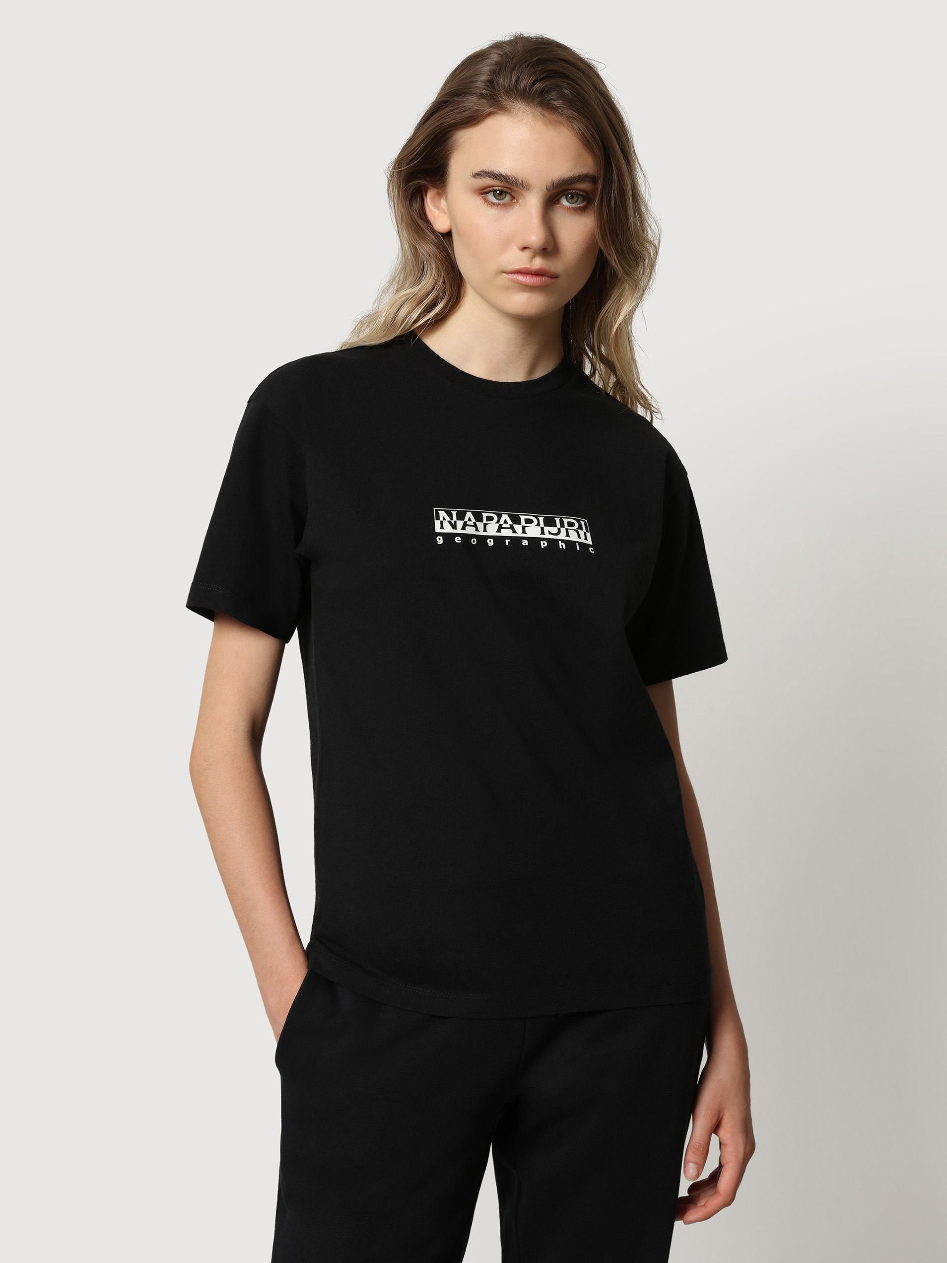Čierne dámske tričko s nápisom NAPAPIJRI S-box W SS 3 - M