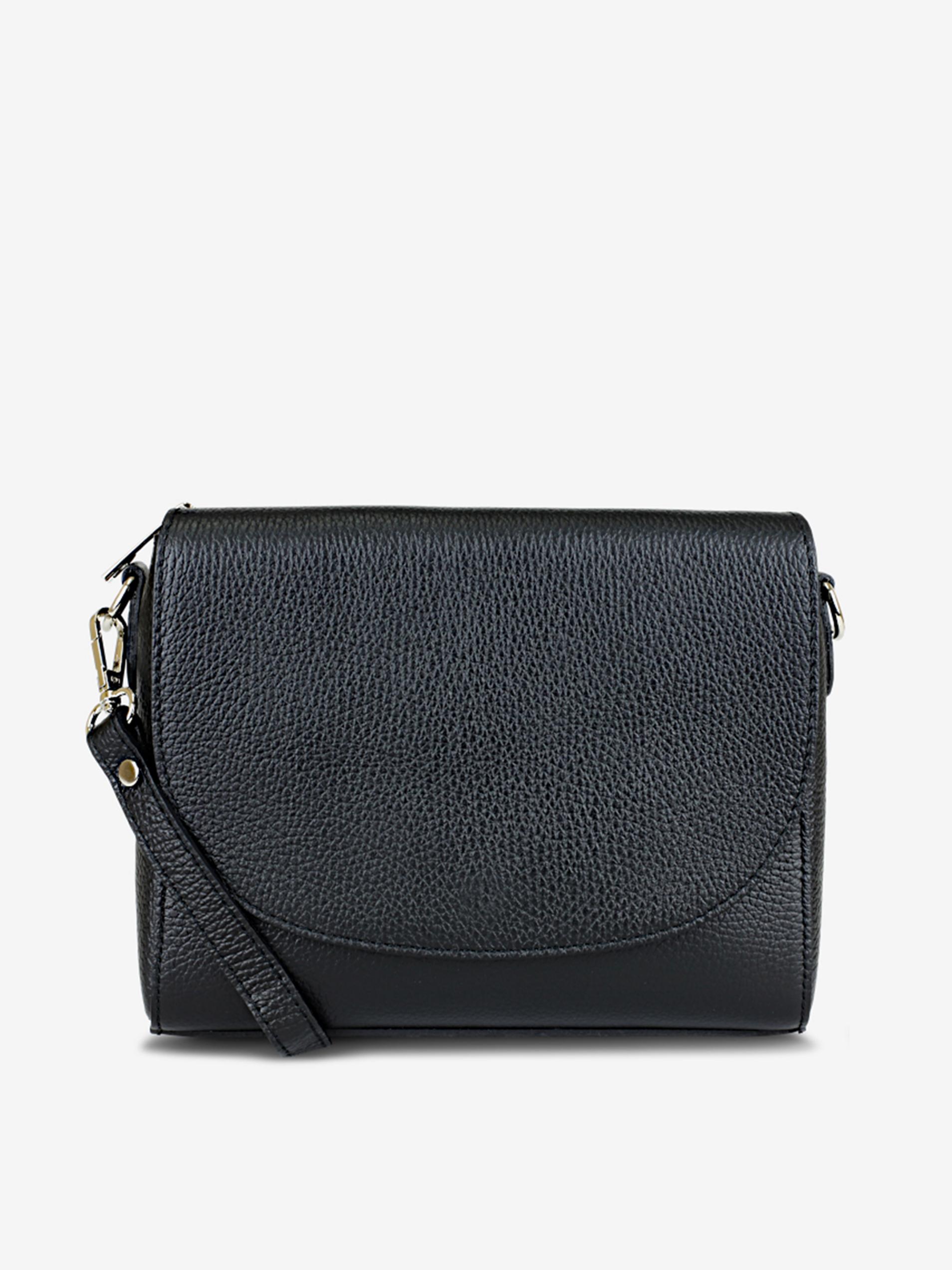 Čierna dámska kožená crossbody kabelka KARA